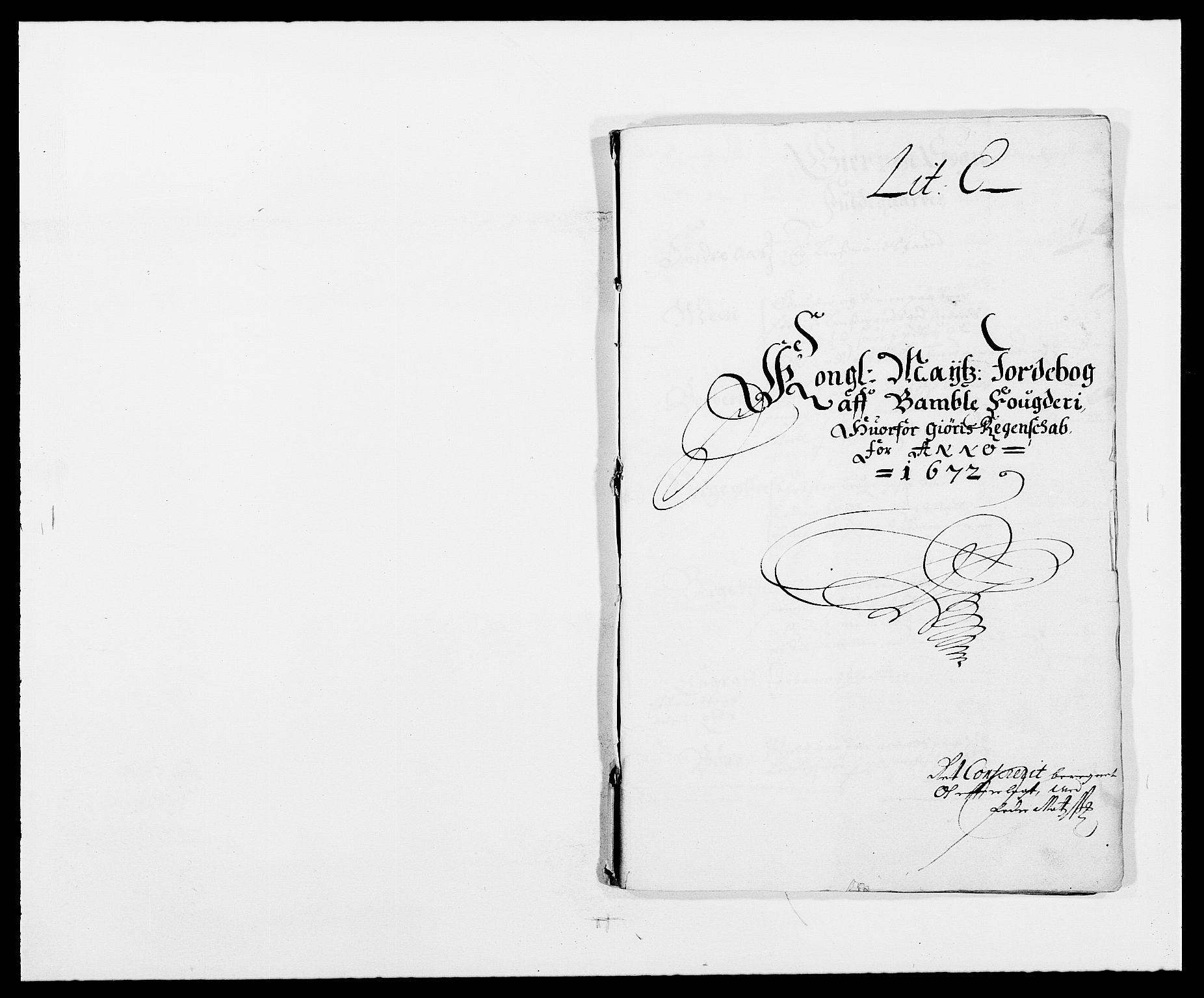RA, Rentekammeret inntil 1814, Reviderte regnskaper, Fogderegnskap, R34/L2041: Fogderegnskap Bamble, 1670-1672, s. 332