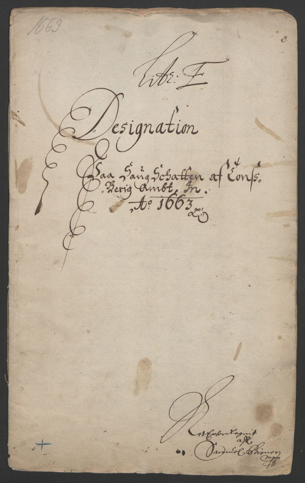 RA, Rentekammeret inntil 1814, Reviderte regnskaper, Fogderegnskap, R32/L1838: Fogderegnskap Jarlsberg grevskap, 1661-1663, s. 303
