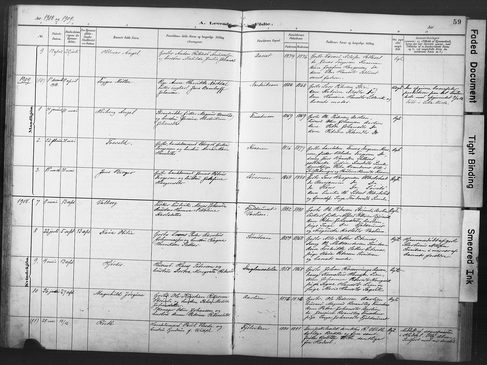 SAT, Ministerialprotokoller, klokkerbøker og fødselsregistre - Nord-Trøndelag, 789/L0706: Klokkerbok nr. 789C01, 1888-1931, s. 59