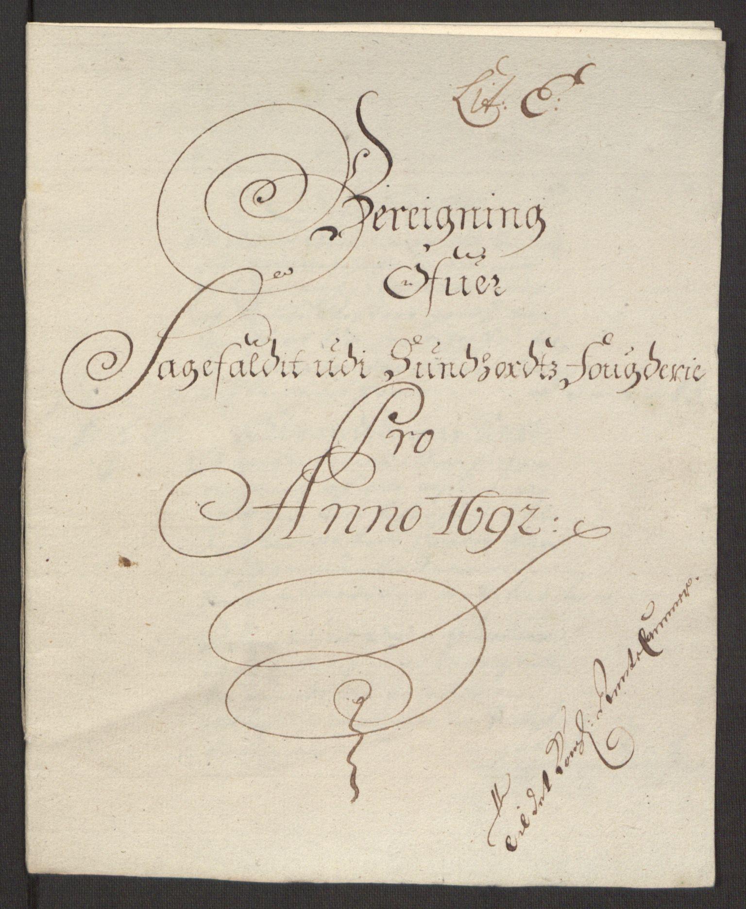 RA, Rentekammeret inntil 1814, Reviderte regnskaper, Fogderegnskap, R48/L2973: Fogderegnskap Sunnhordland og Hardanger, 1691-1692, s. 421