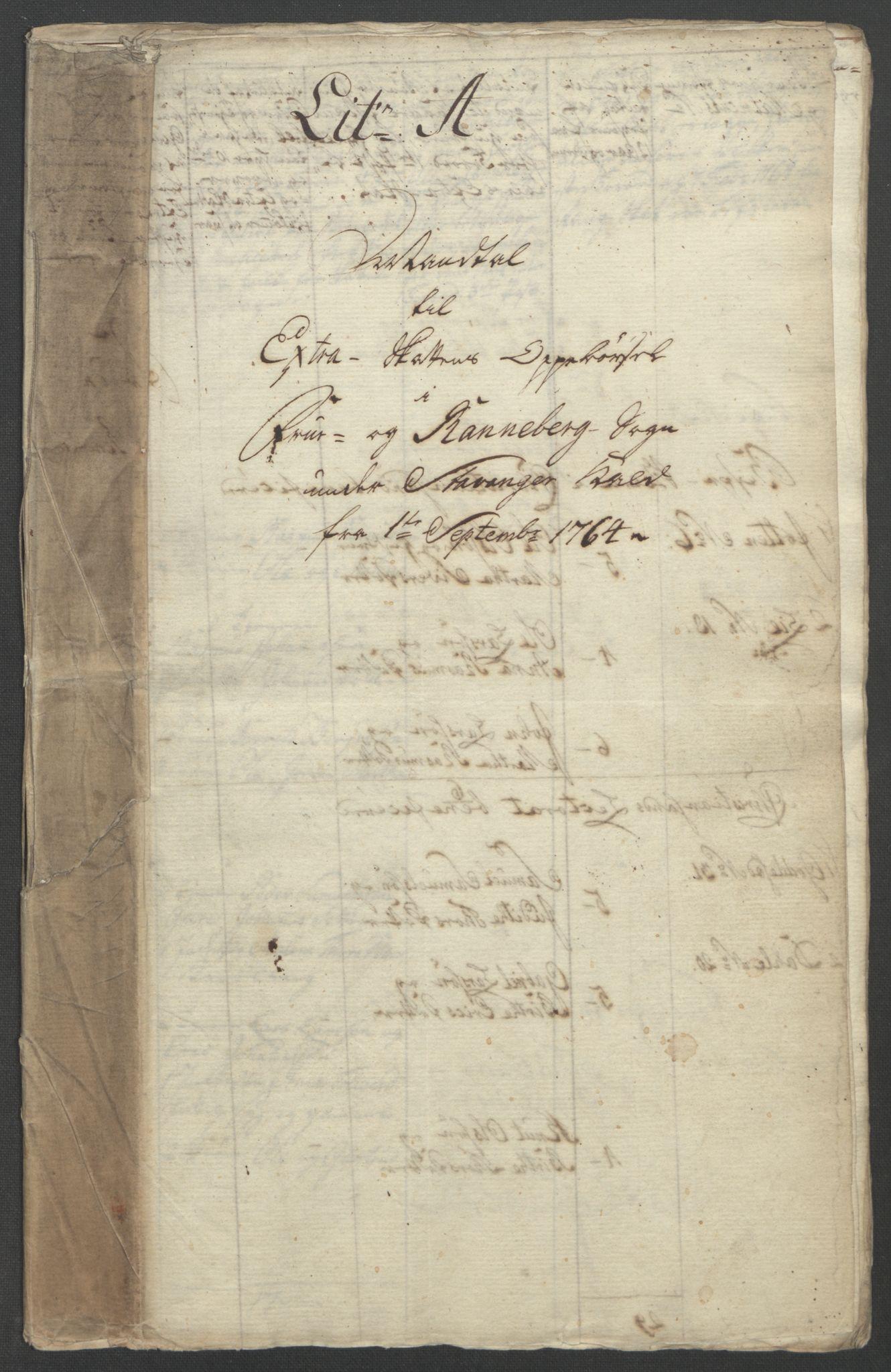 RA, Rentekammeret inntil 1814, Reviderte regnskaper, Fogderegnskap, R46/L2836: Ekstraskatten Jæren og Dalane, 1764-1766, s. 91