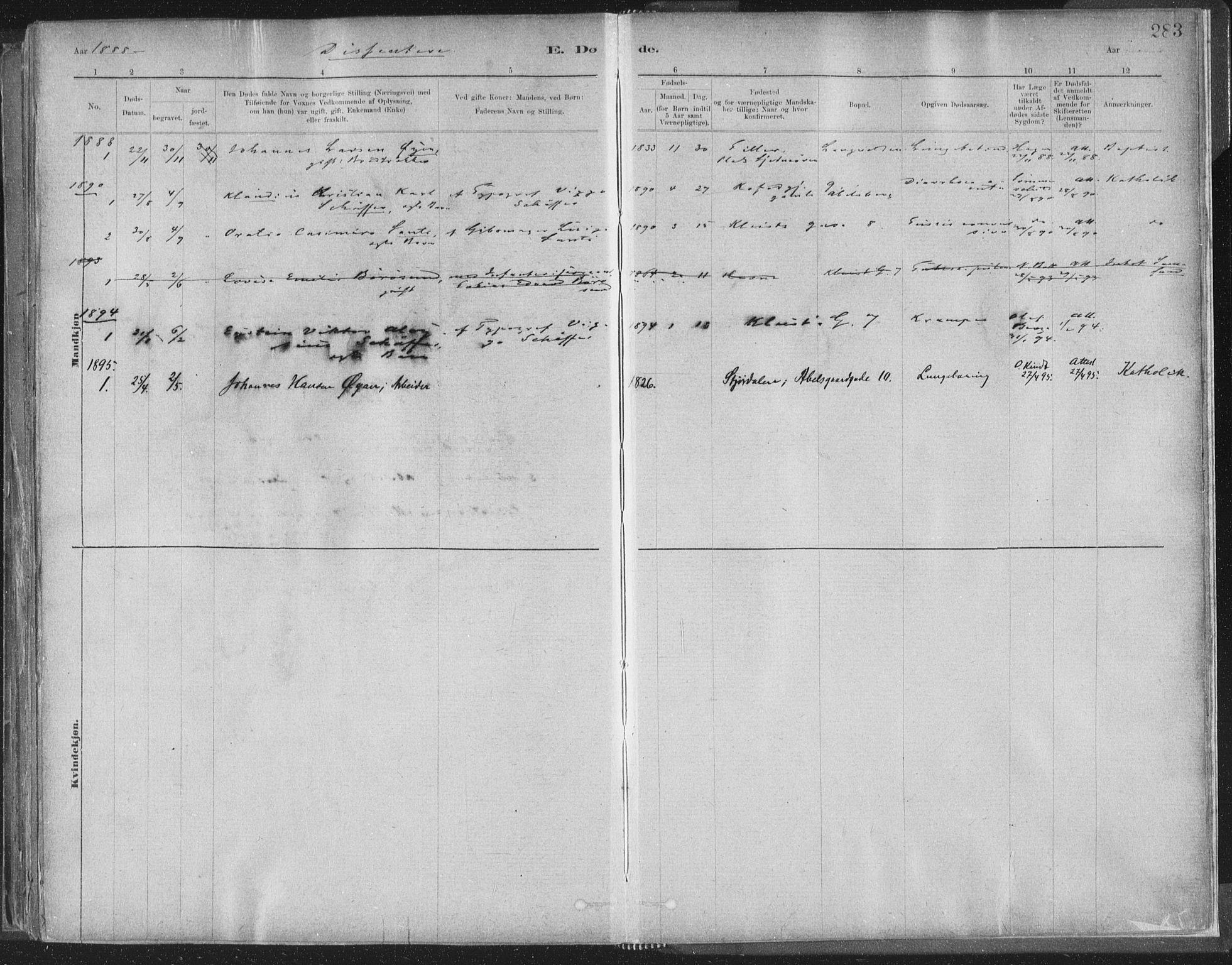 SAT, Ministerialprotokoller, klokkerbøker og fødselsregistre - Sør-Trøndelag, 603/L0162: Ministerialbok nr. 603A01, 1879-1895, s. 283