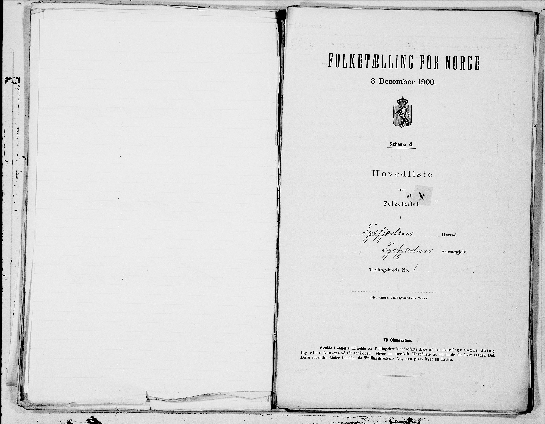 SAT, Folketelling 1900 for 1850 Tysfjord herred, 1900, s. 2