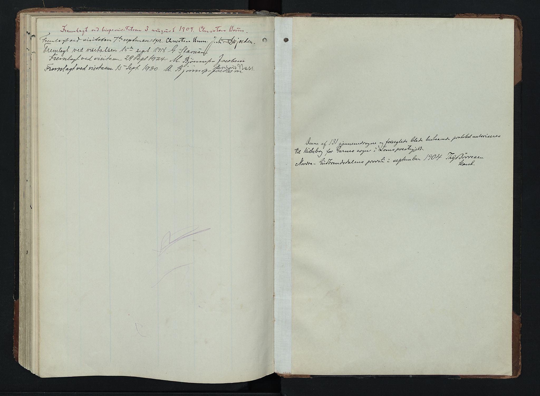 SAH, Lom prestekontor, K/L0011: Ministerialbok nr. 11, 1904-1928