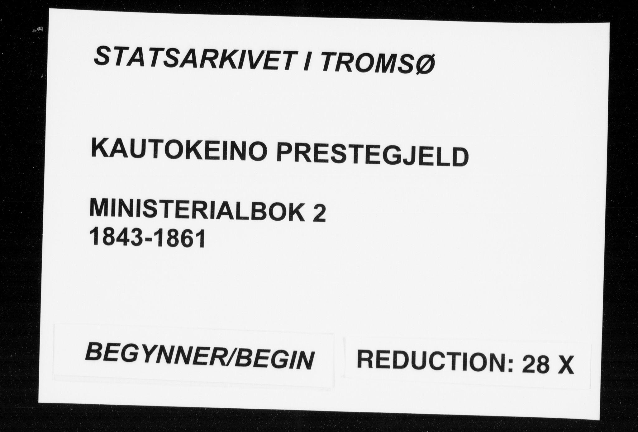 SATØ, Kautokeino sokneprestembete, H/Ha/L0002.kirke: Ministerialbok nr. 2, 1843-1861