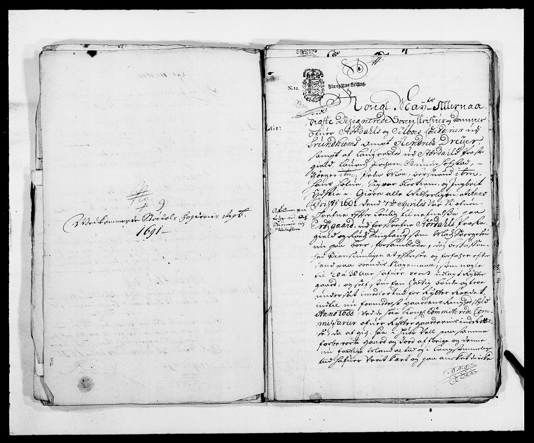 RA, Rentekammeret inntil 1814, Reviderte regnskaper, Fogderegnskap, R62/L4184: Fogderegnskap Stjørdal og Verdal, 1690-1691, s. 435