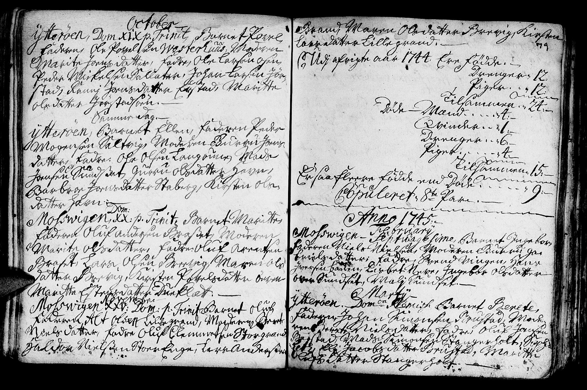 SAT, Ministerialprotokoller, klokkerbøker og fødselsregistre - Nord-Trøndelag, 722/L0215: Ministerialbok nr. 722A02, 1718-1755, s. 79