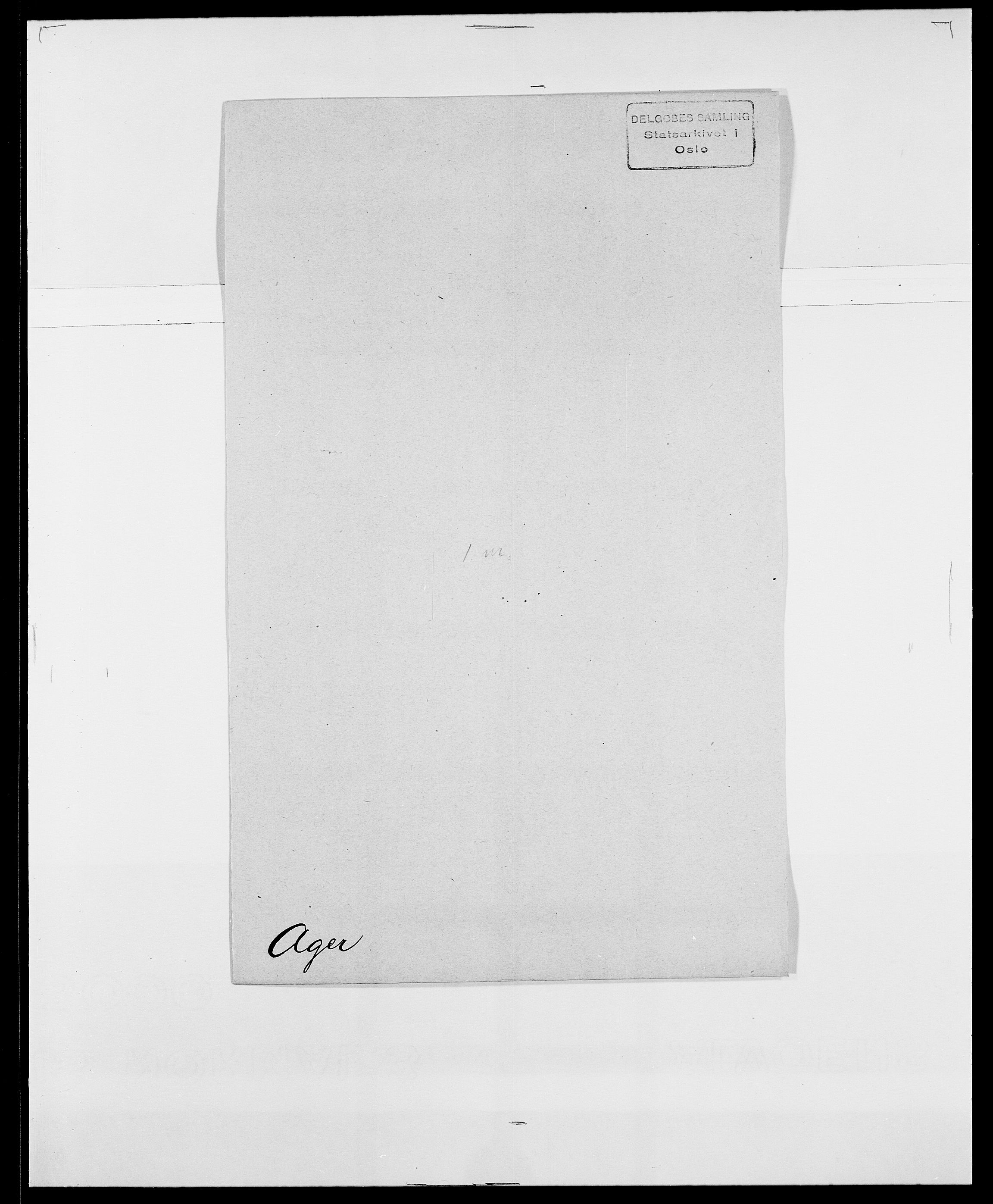 SAO, Delgobe, Charles Antoine - samling, D/Da/L0001: Aabye - Angerman, s. 291