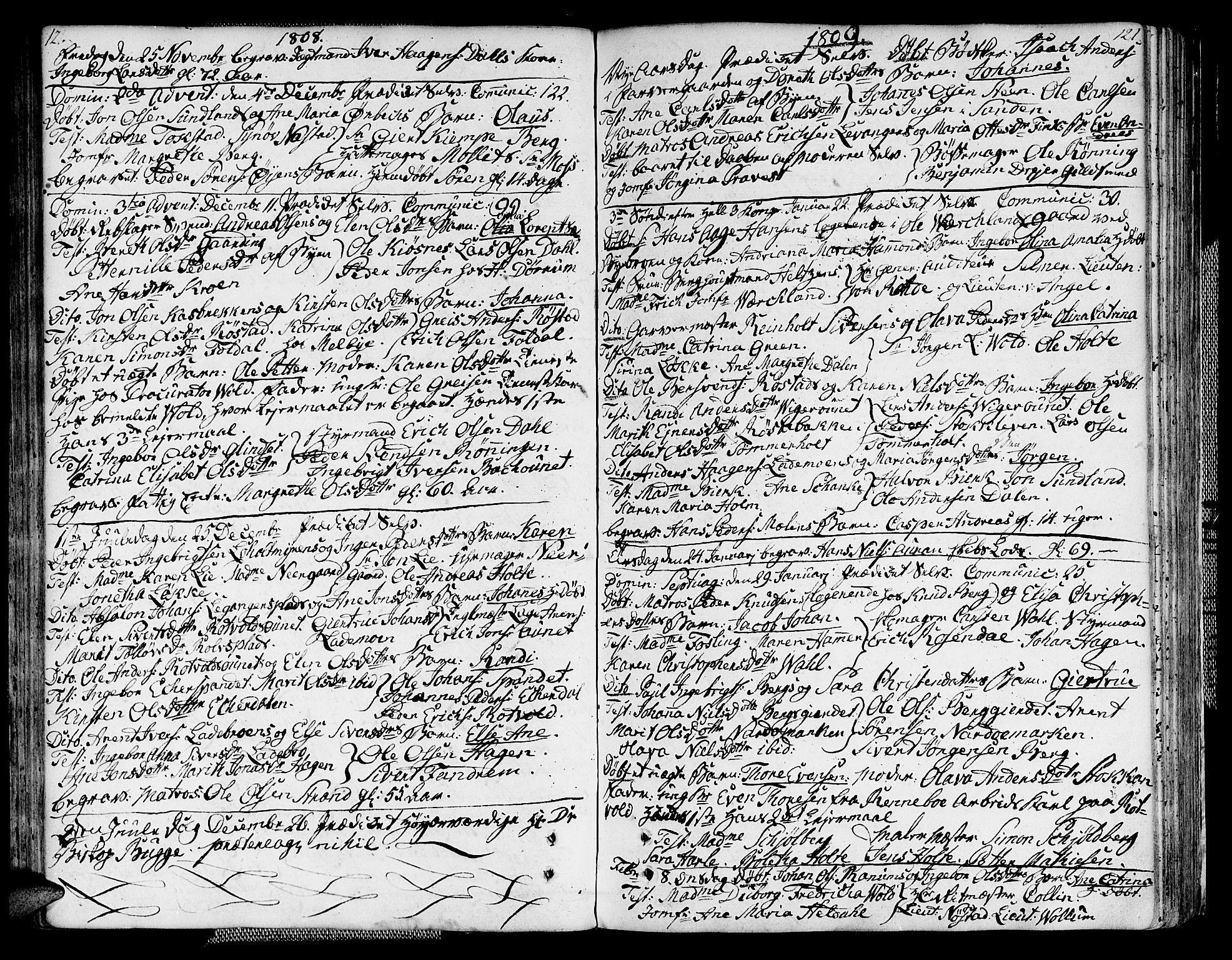 SAT, Ministerialprotokoller, klokkerbøker og fødselsregistre - Sør-Trøndelag, 604/L0181: Ministerialbok nr. 604A02, 1798-1817, s. 121a-121b