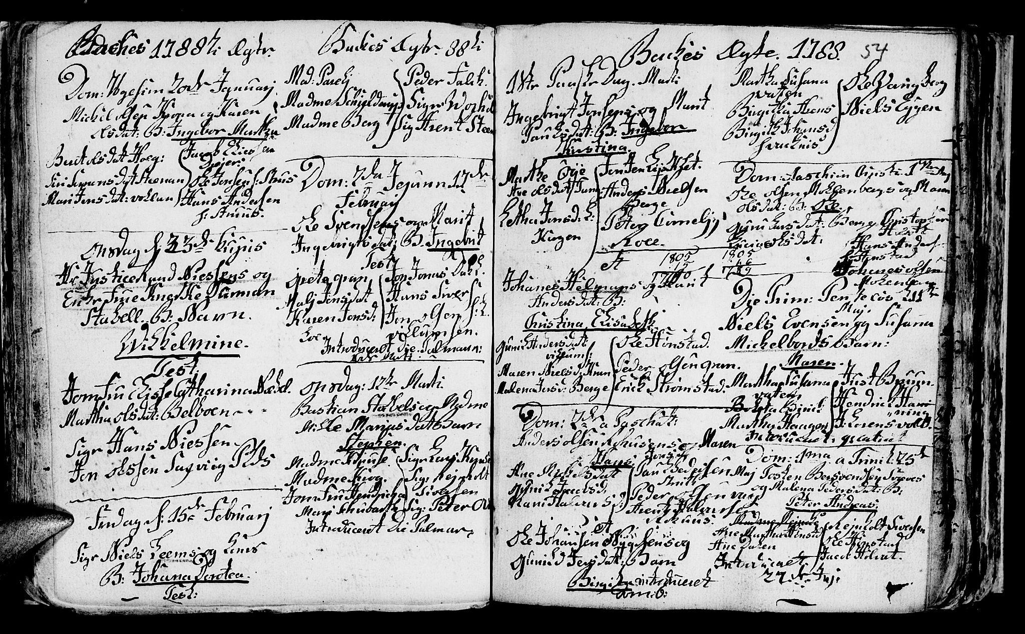 SAT, Ministerialprotokoller, klokkerbøker og fødselsregistre - Sør-Trøndelag, 604/L0218: Klokkerbok nr. 604C01, 1754-1819, s. 54