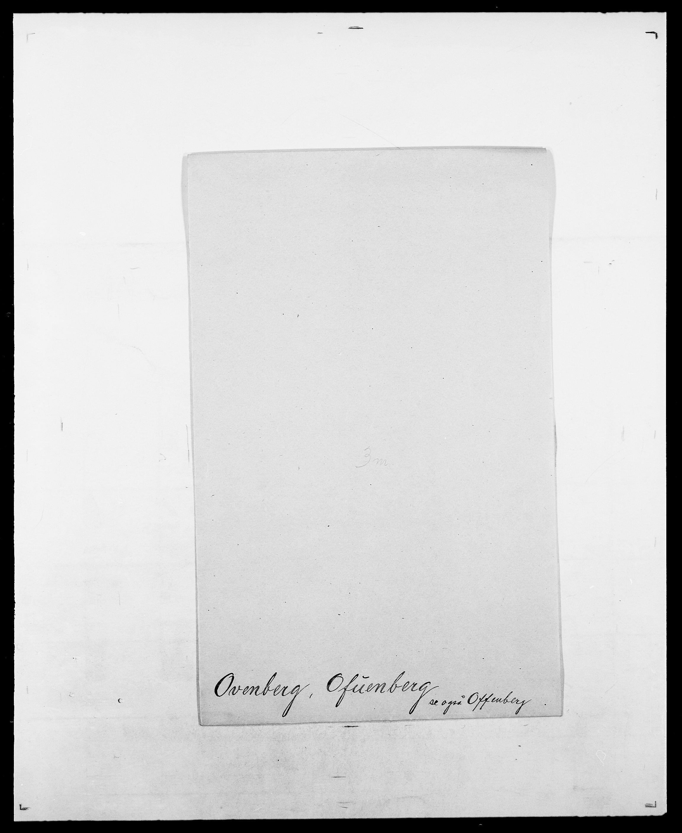 SAO, Delgobe, Charles Antoine - samling, D/Da/L0029: Obel - Oxholm, s. 491