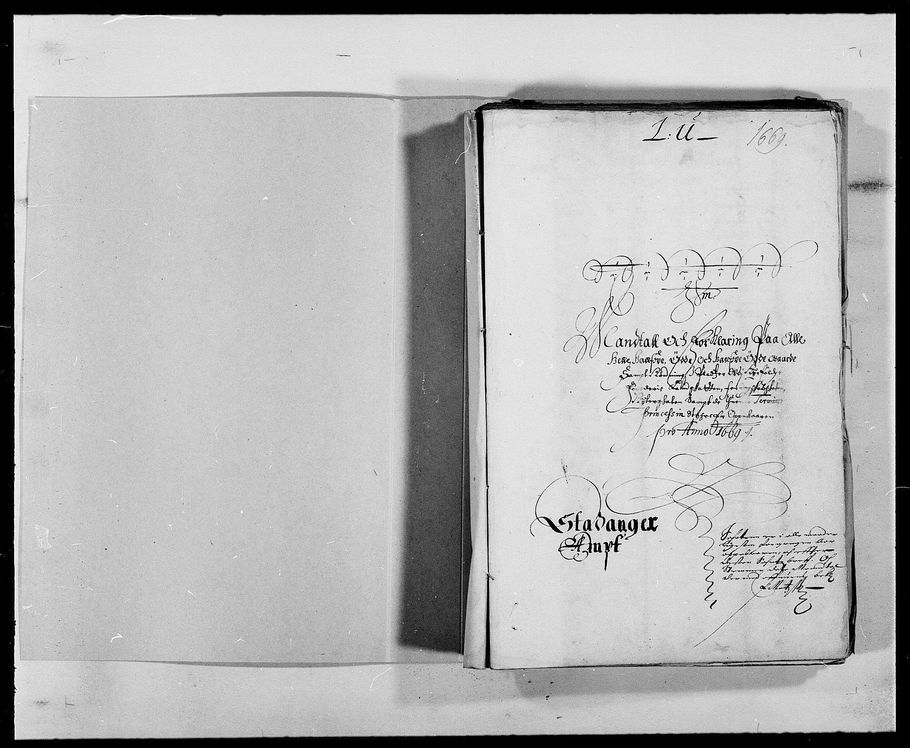 RA, Rentekammeret inntil 1814, Reviderte regnskaper, Fogderegnskap, R47/L2842: Fogderegnskap Ryfylke, 1665-1669, s. 3