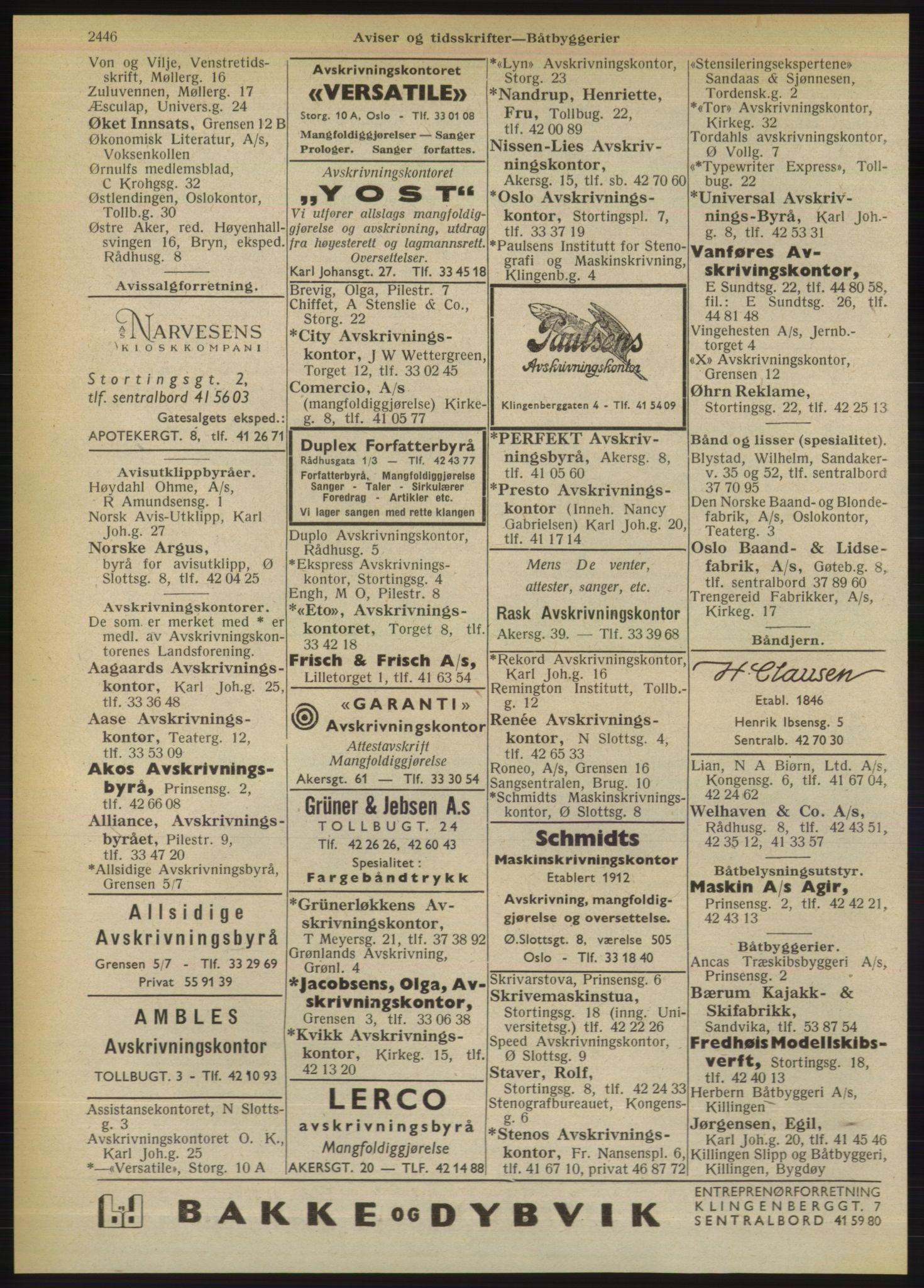 PUBL, Kristiania/Oslo adressebok, 1949, s. 2446