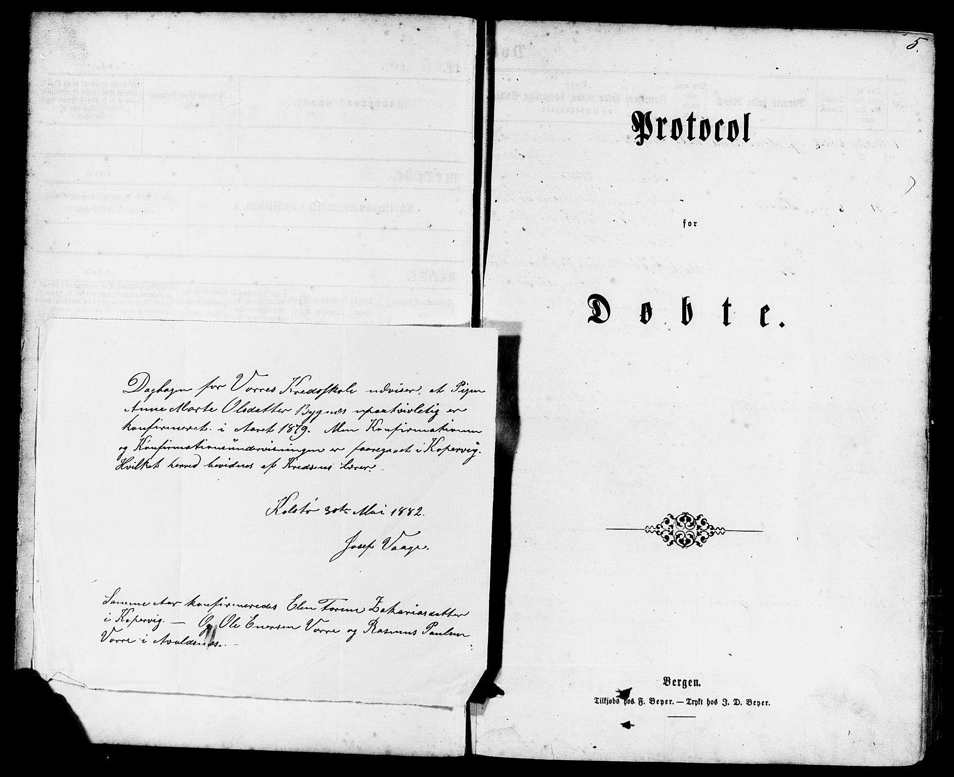 SAST, Avaldsnes sokneprestkontor, H/Ha/Haa/L0011: Ministerialbok nr. A 11, 1861-1880, s. 5