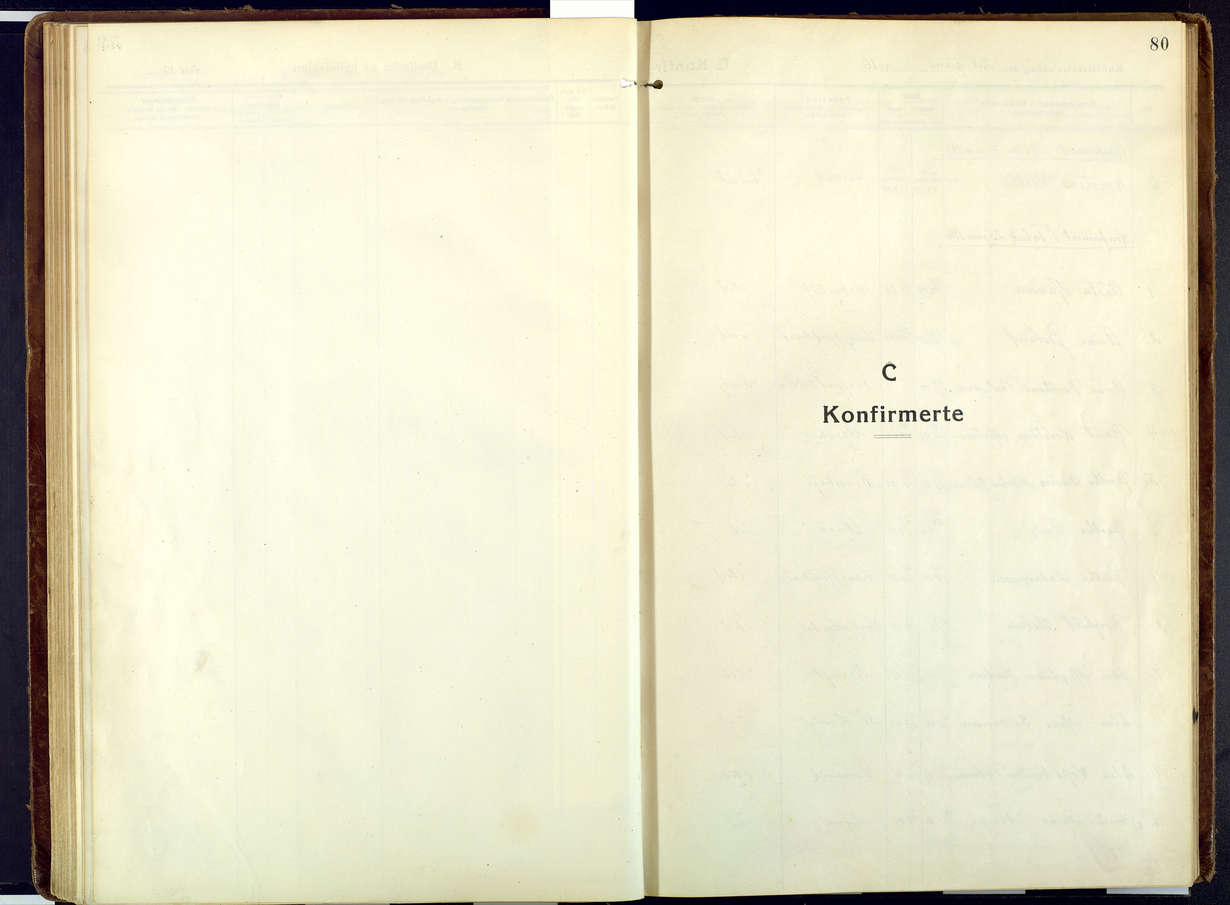 SATØ, Talvik sokneprestkontor, H/Ha/L0018kirke: Ministerialbok nr. 18, 1915-1924, s. 80