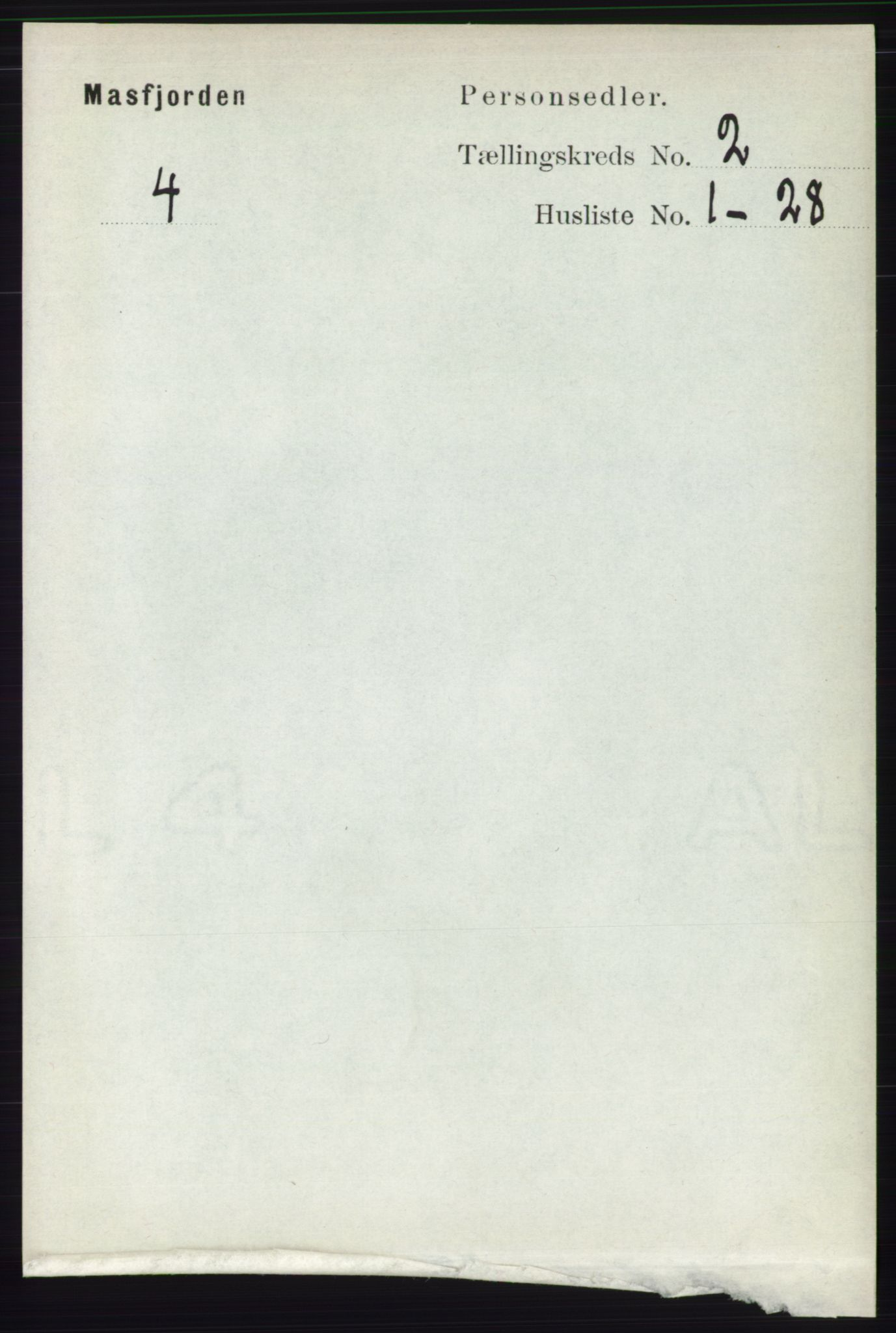 RA, Folketelling 1891 for 1266 Masfjorden herred, 1891, s. 190