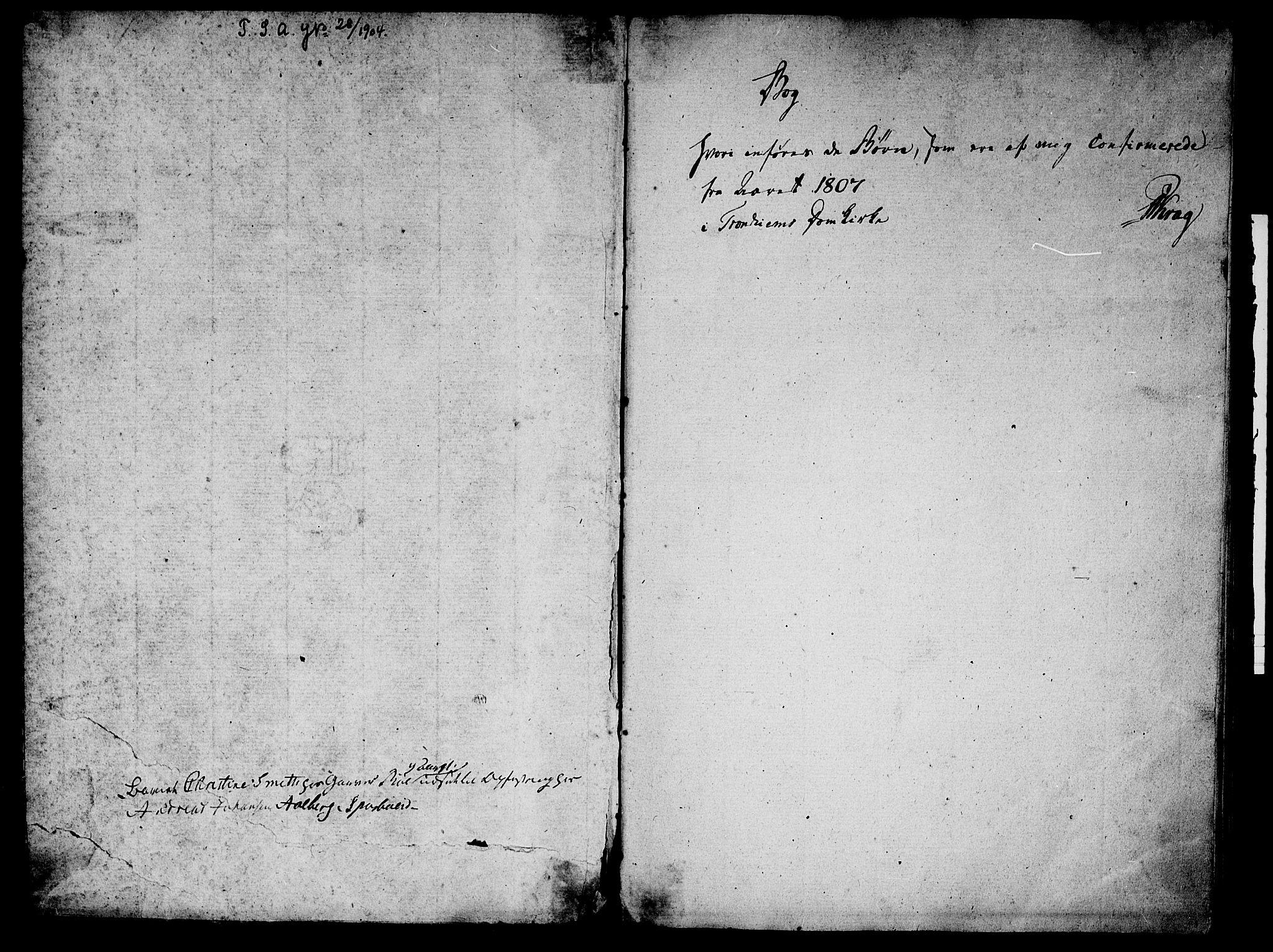 SAT, Ministerialprotokoller, klokkerbøker og fødselsregistre - Sør-Trøndelag, 601/L0069: Residerende kapellans bok nr. 601B02, 1807-1836, s. 2-3