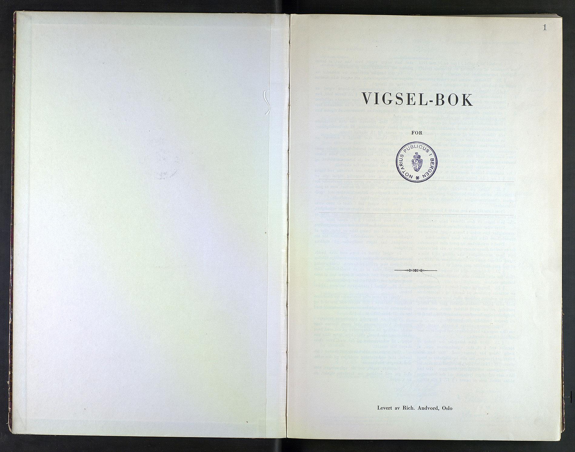 SAB, Bergen byfogd og byskriver*, 1942, s. 1