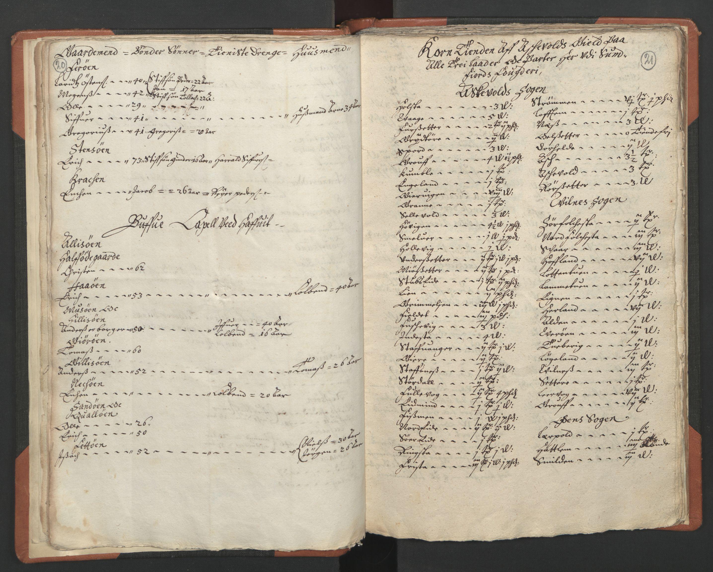 RA, Sogneprestenes manntall 1664-1666, nr. 24: Sunnfjord prosti, 1664-1666, s. 20-21