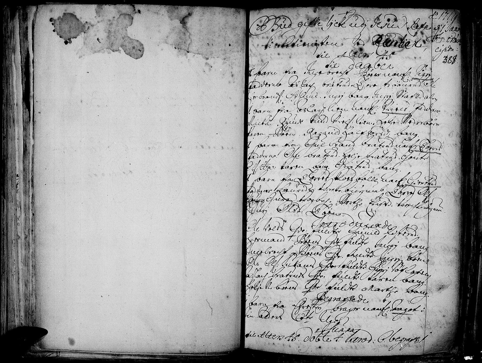 SAH, Aurdal prestekontor, Ministerialbok nr. 1-3, 1692-1730, s. 388
