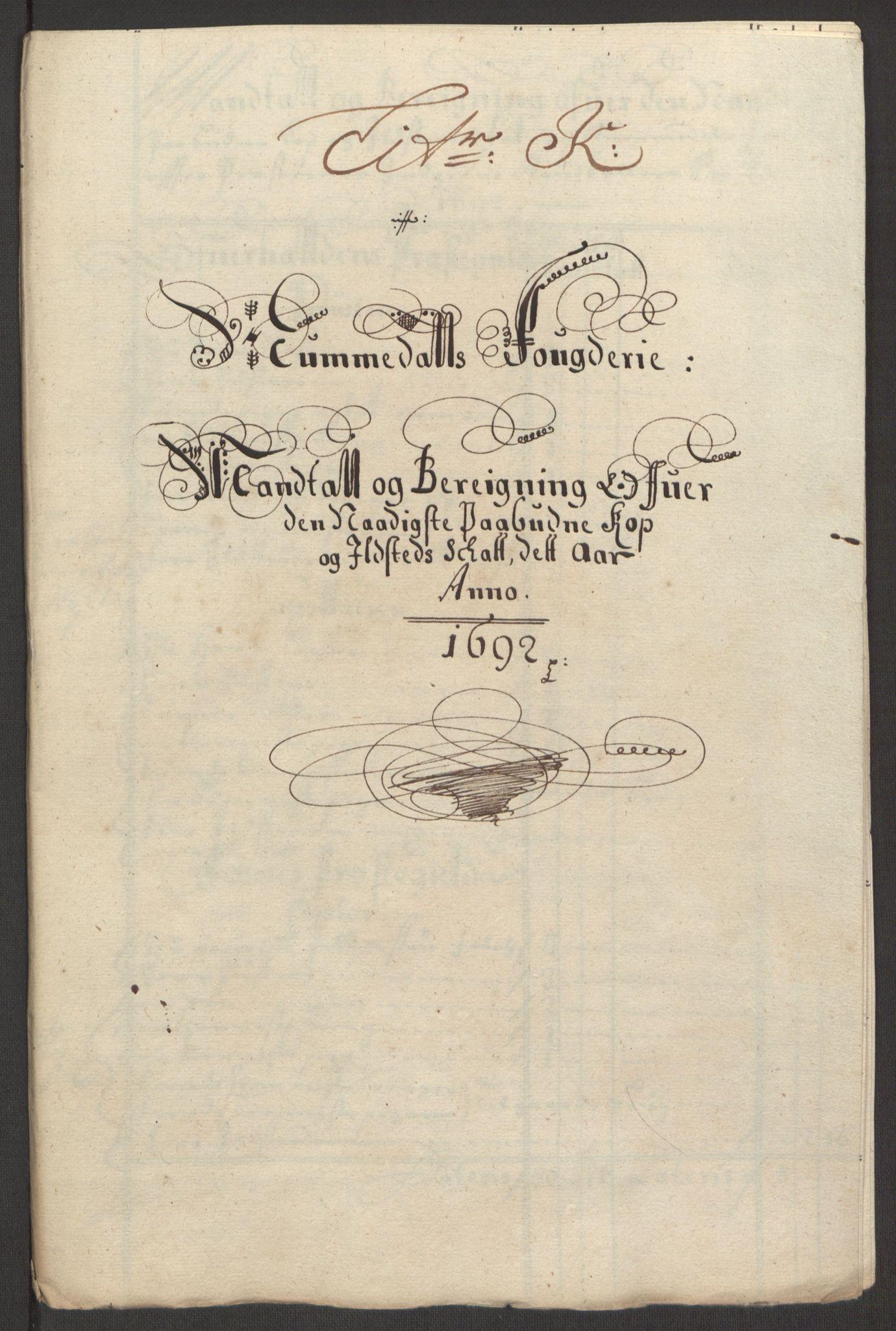 RA, Rentekammeret inntil 1814, Reviderte regnskaper, Fogderegnskap, R64/L4424: Fogderegnskap Namdal, 1692-1695, s. 63