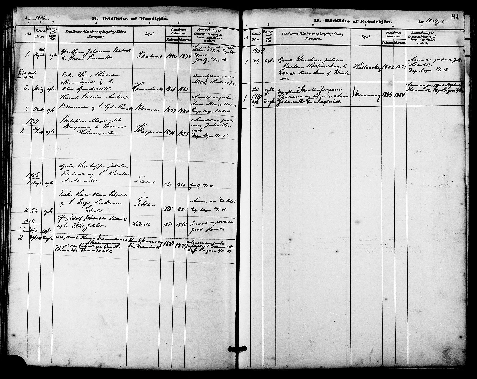 SAT, Ministerialprotokoller, klokkerbøker og fødselsregistre - Sør-Trøndelag, 641/L0598: Klokkerbok nr. 641C02, 1893-1910, s. 84