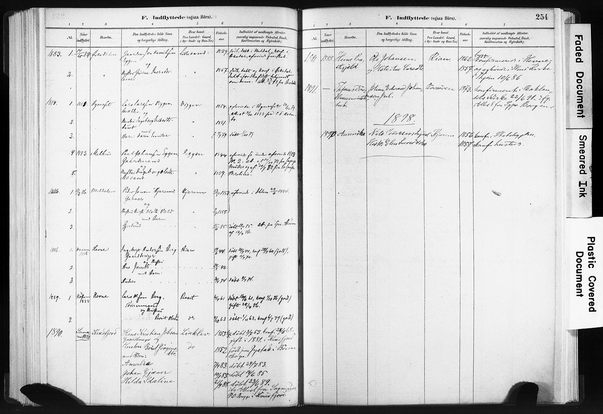 SAT, Ministerialprotokoller, klokkerbøker og fødselsregistre - Sør-Trøndelag, 665/L0773: Ministerialbok nr. 665A08, 1879-1905, s. 254