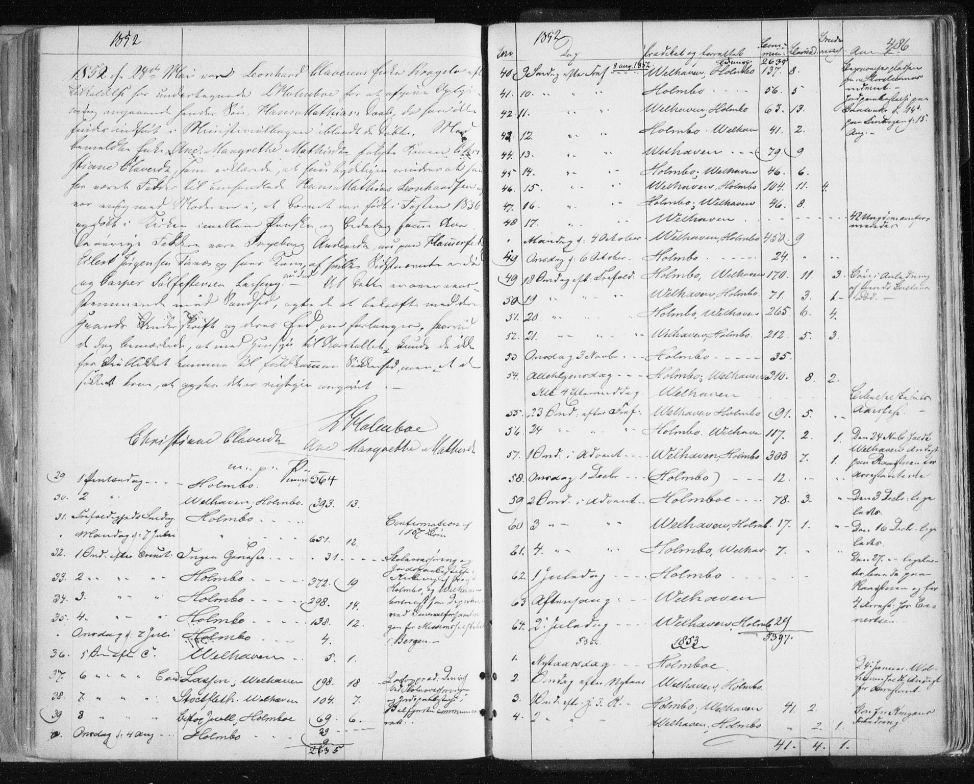 SATØ, Tromsø sokneprestkontor/stiftsprosti/domprosti, G/Ga/L0010kirke: Ministerialbok nr. 10, 1848-1855, s. 486