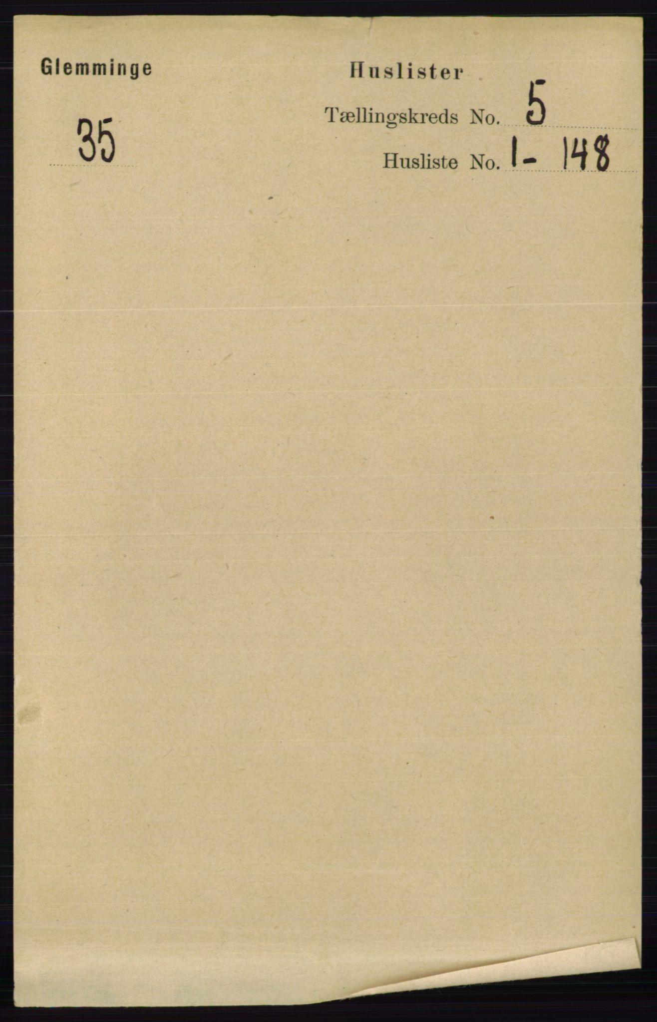 RA, Folketelling 1891 for 0132 Glemmen herred, 1891, s. 5897