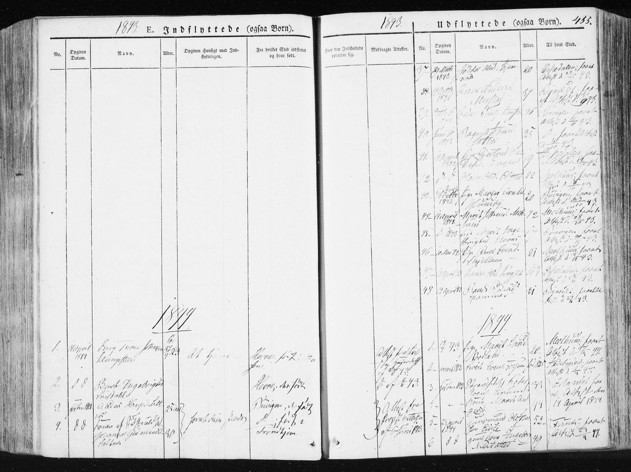 SAT, Ministerialprotokoller, klokkerbøker og fødselsregistre - Sør-Trøndelag, 665/L0771: Ministerialbok nr. 665A06, 1830-1856, s. 455