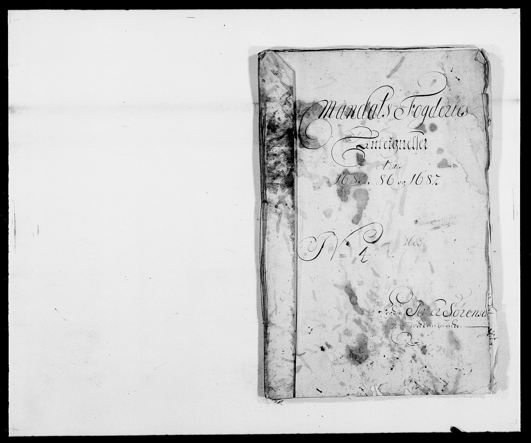 RA, Rentekammeret inntil 1814, Reviderte regnskaper, Fogderegnskap, R42/L2542: Mandal fogderi, 1685-1687, s. 287