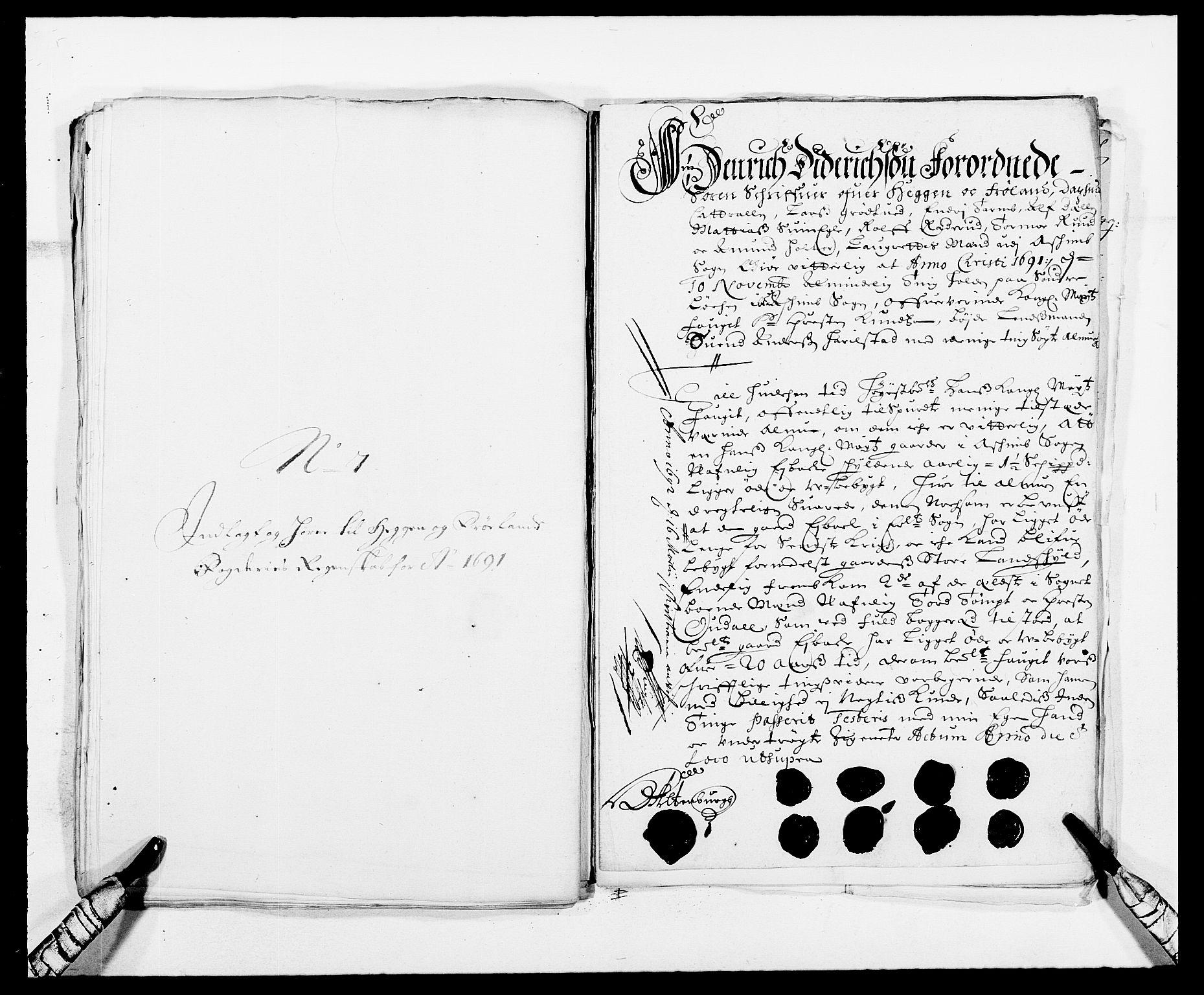 RA, Rentekammeret inntil 1814, Reviderte regnskaper, Fogderegnskap, R06/L0283: Fogderegnskap Heggen og Frøland, 1691-1693, s. 97