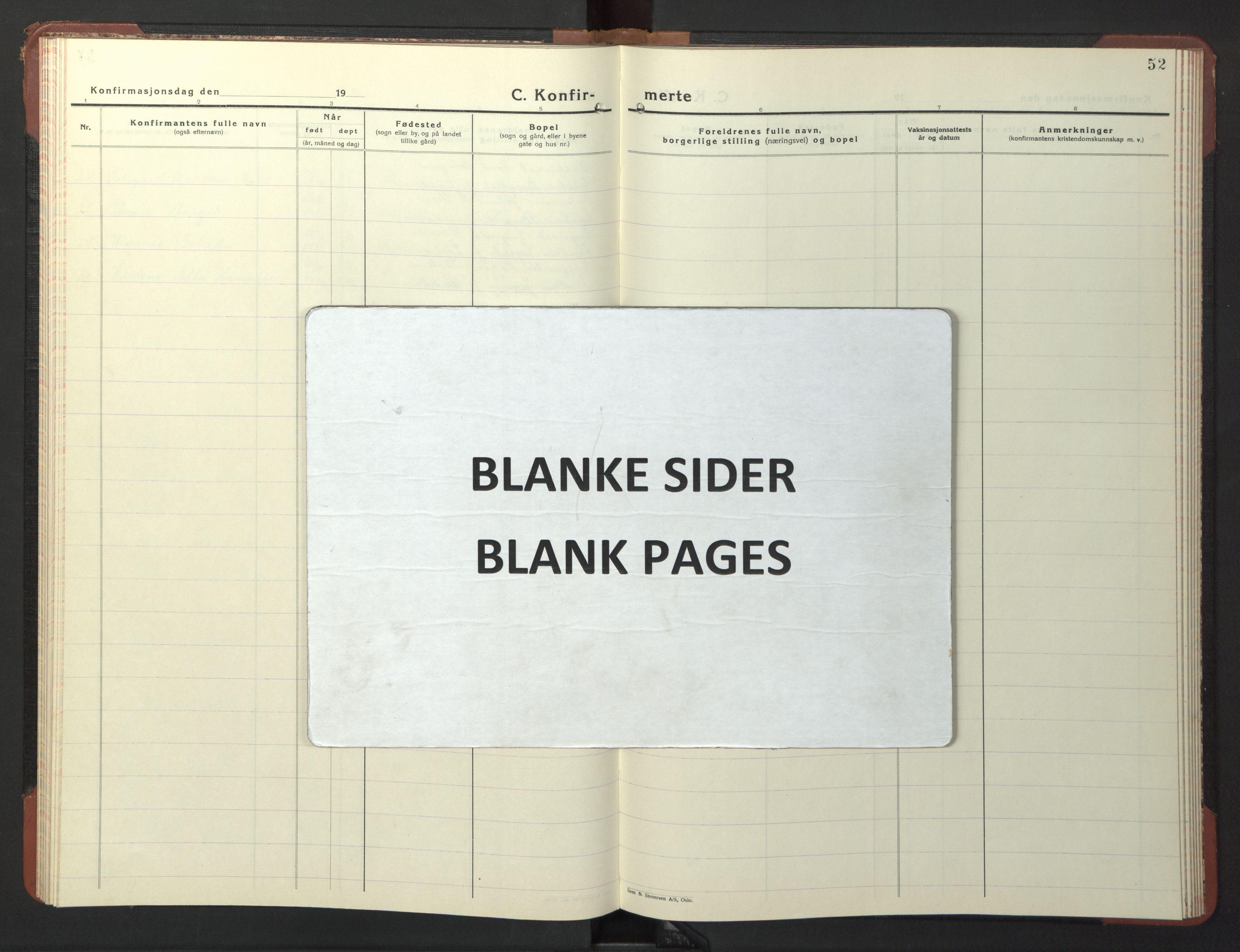 SAT, Ministerialprotokoller, klokkerbøker og fødselsregistre - Sør-Trøndelag, 611/L0358: Klokkerbok nr. 611C06, 1943-1946, s. 52