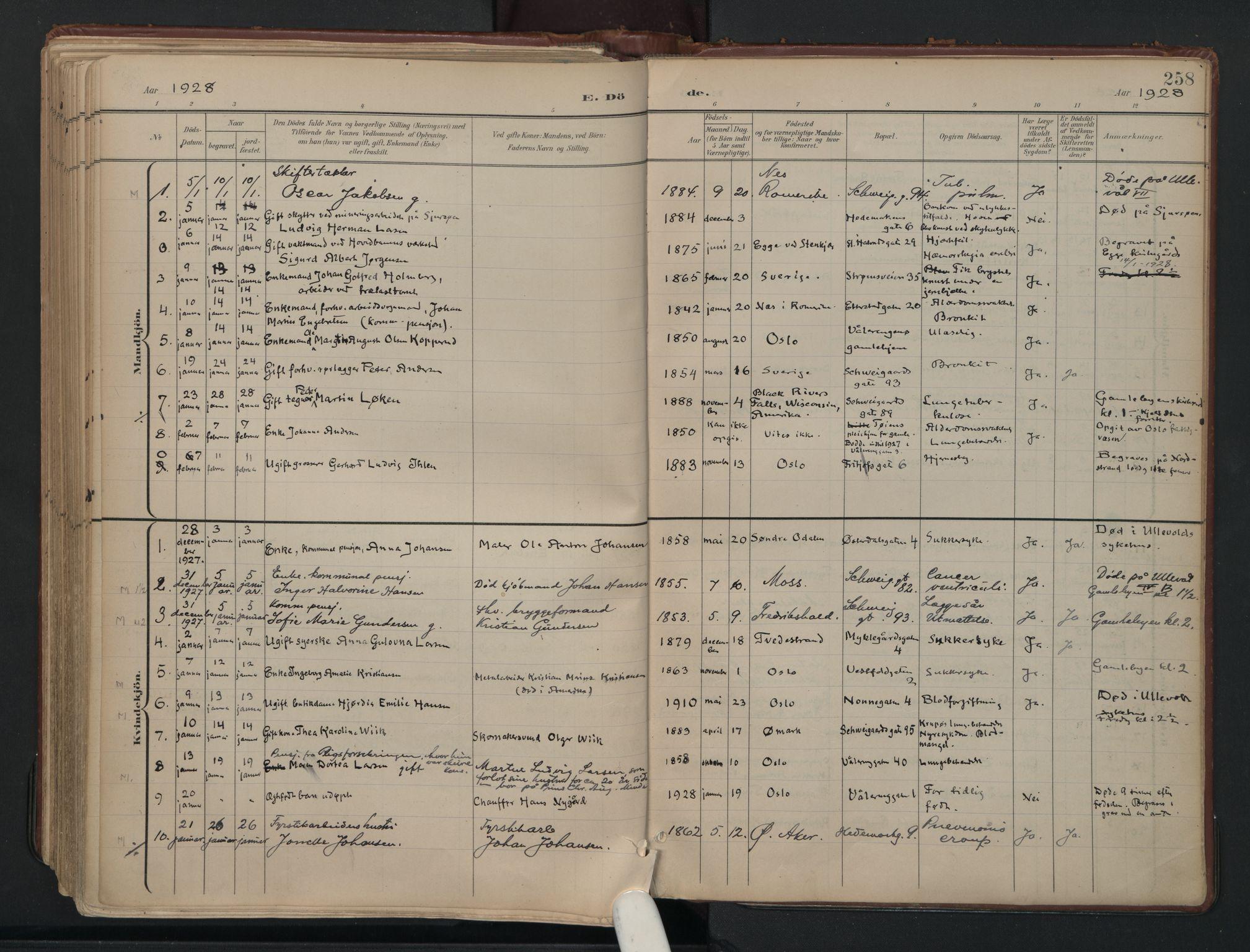 SAO, Vålerengen prestekontor Kirkebøker, F/Fa/L0003: Ministerialbok nr. 3, 1899-1930, s. 258