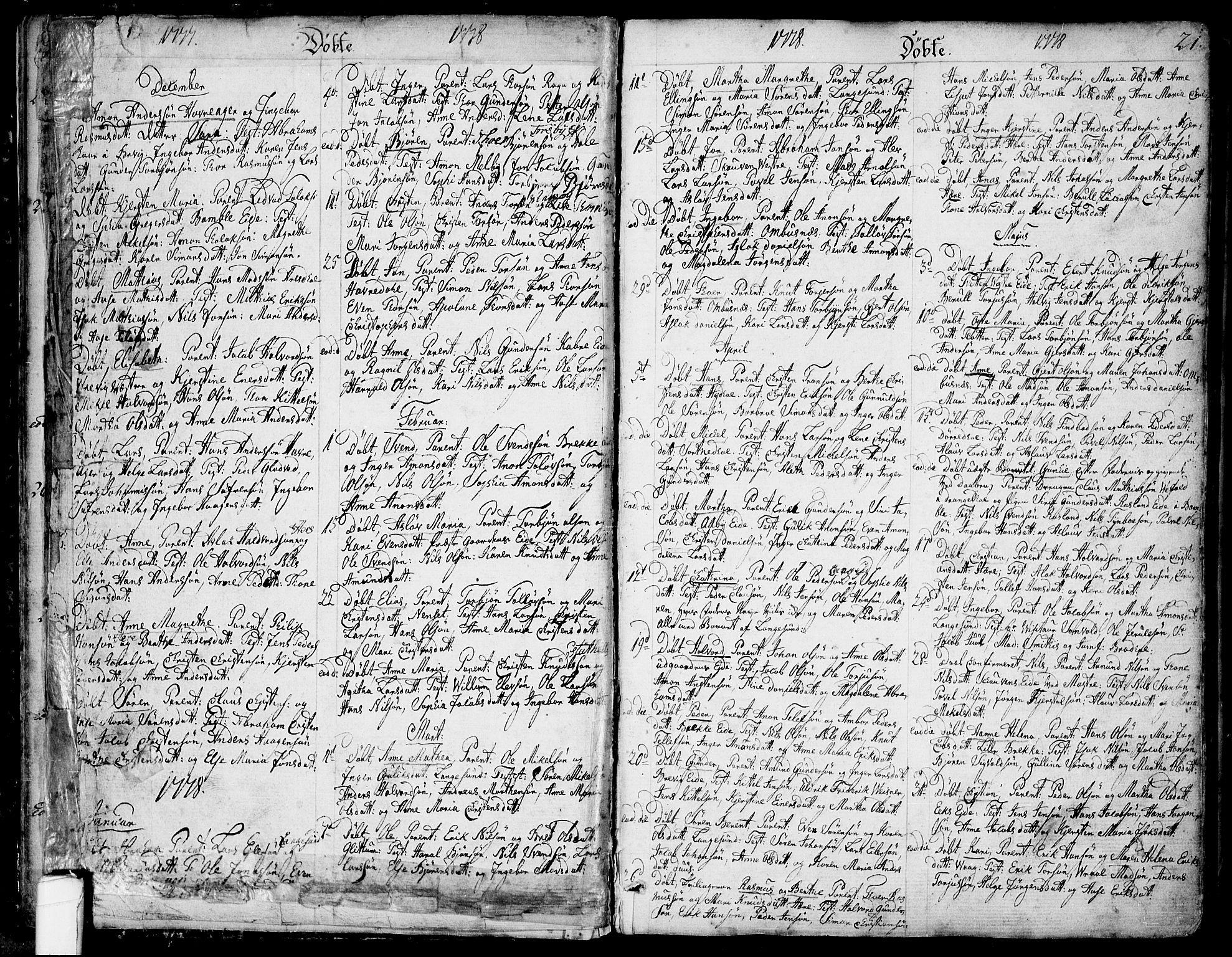 SAKO, Bamble kirkebøker, F/Fa/L0002: Ministerialbok nr. I 2, 1775-1814, s. 20-21