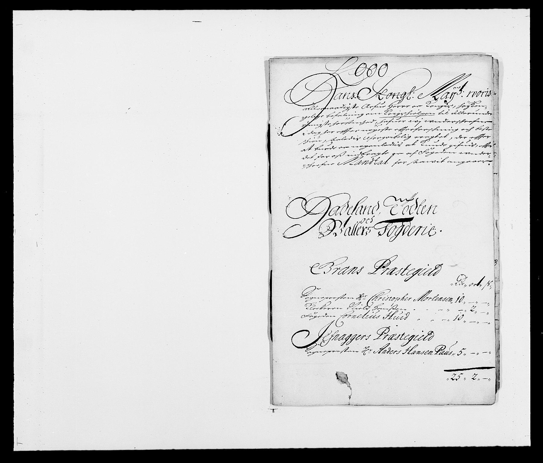 RA, Rentekammeret inntil 1814, Reviderte regnskaper, Fogderegnskap, R18/L1282: Fogderegnskap Hadeland, Toten og Valdres, 1683, s. 253