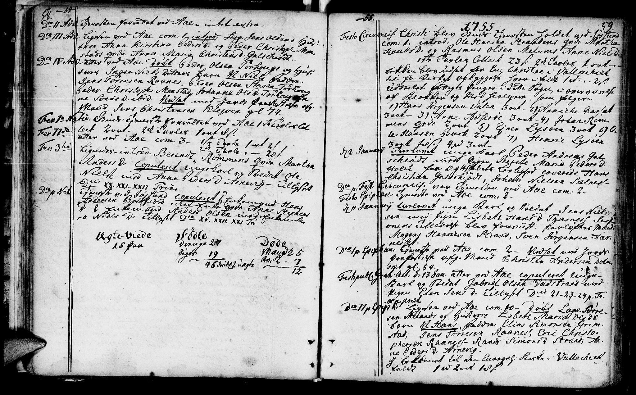 SAT, Ministerialprotokoller, klokkerbøker og fødselsregistre - Sør-Trøndelag, 655/L0672: Ministerialbok nr. 655A01, 1750-1779, s. 58-59