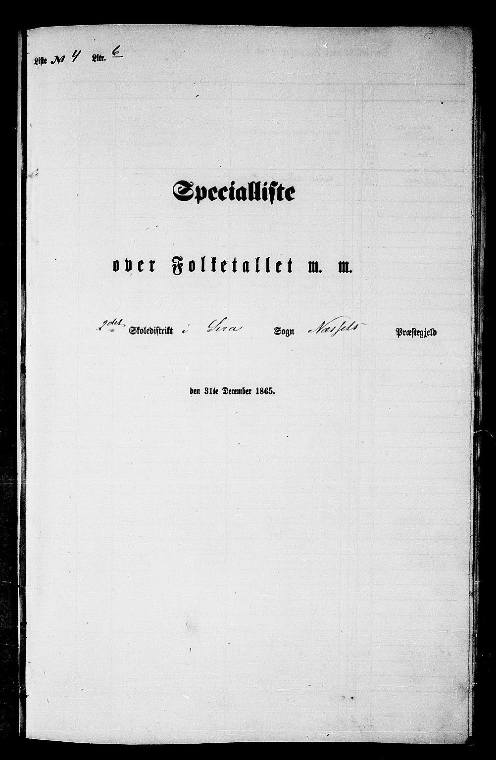 RA, Folketelling 1865 for 1543P Nesset prestegjeld, 1865, s. 85