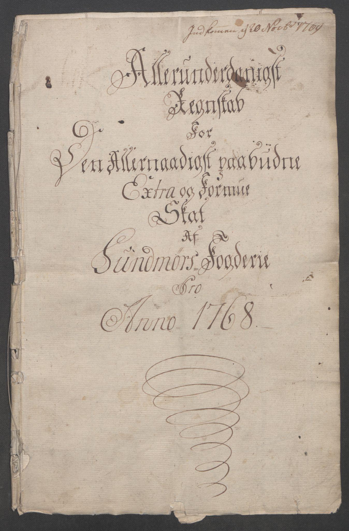 RA, Rentekammeret inntil 1814, Reviderte regnskaper, Fogderegnskap, R54/L3645: Ekstraskatten Sunnmøre, 1762-1772, s. 111