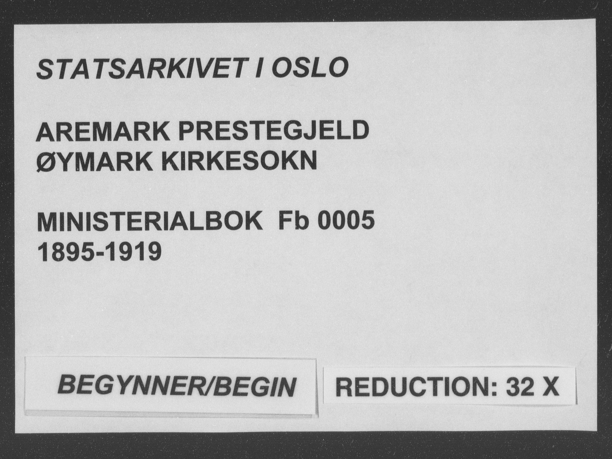 SAO, Aremark prestekontor Kirkebøker, F/Fb/L0005: Ministerialbok nr. II 5, 1895-1919