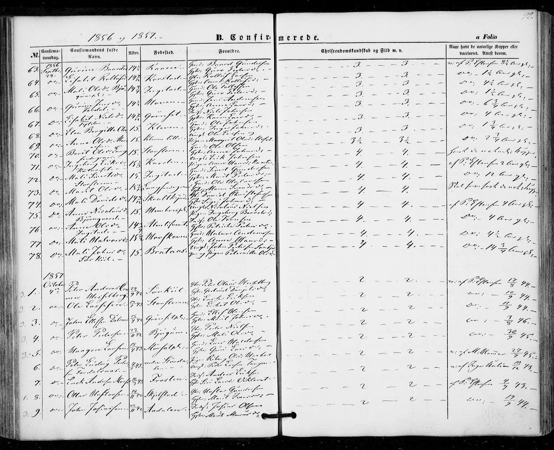 SAT, Ministerialprotokoller, klokkerbøker og fødselsregistre - Nord-Trøndelag, 703/L0028: Ministerialbok nr. 703A01, 1850-1862, s. 92