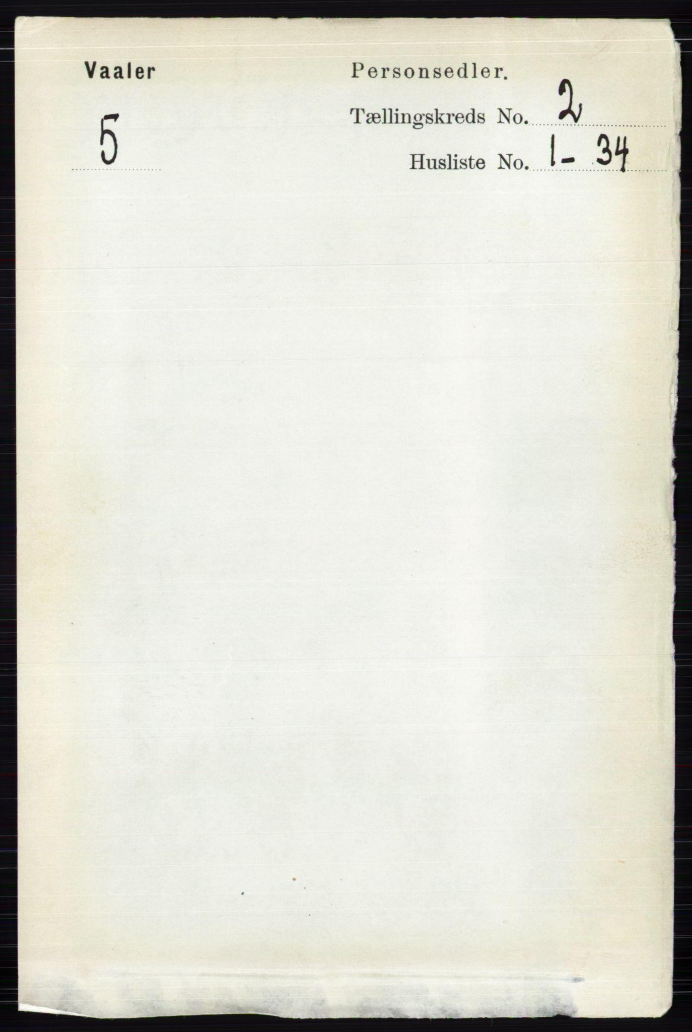 RA, Folketelling 1891 for 0426 Våler herred, 1891, s. 501
