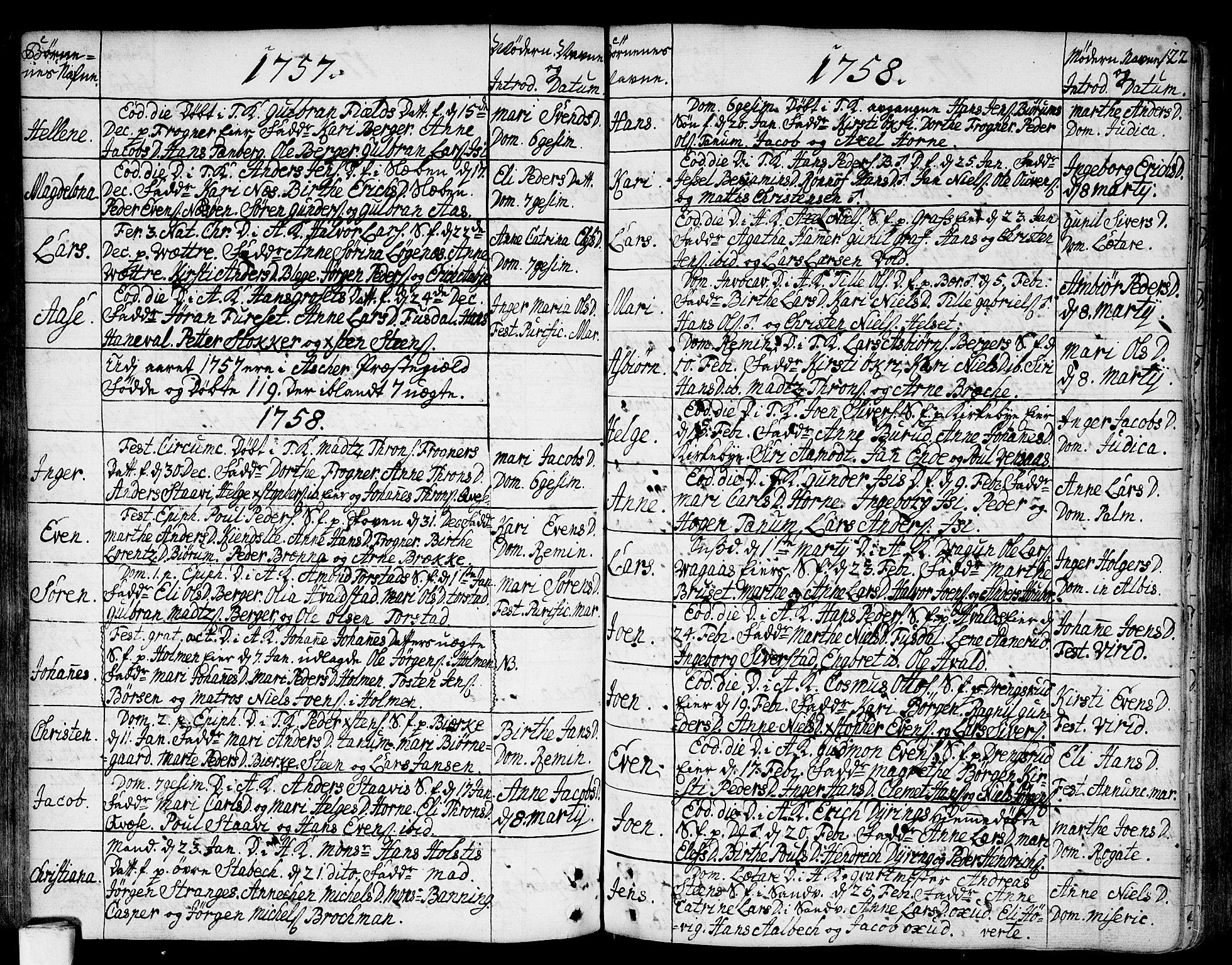 SAO, Asker prestekontor Kirkebøker, F/Fa/L0002: Ministerialbok nr. I 2, 1733-1766, s. 122