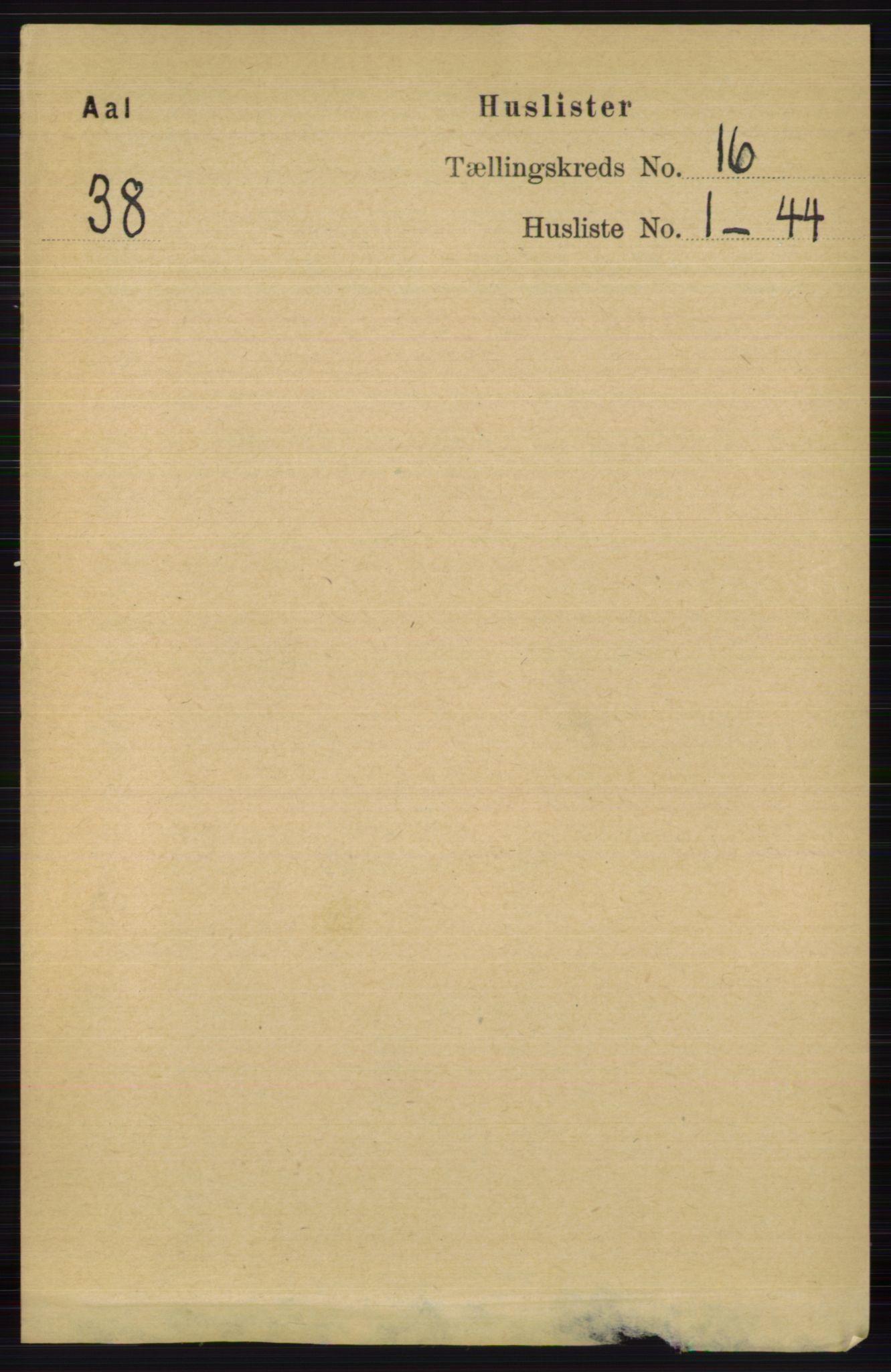 RA, Folketelling 1891 for 0619 Ål herred, 1891, s. 3994