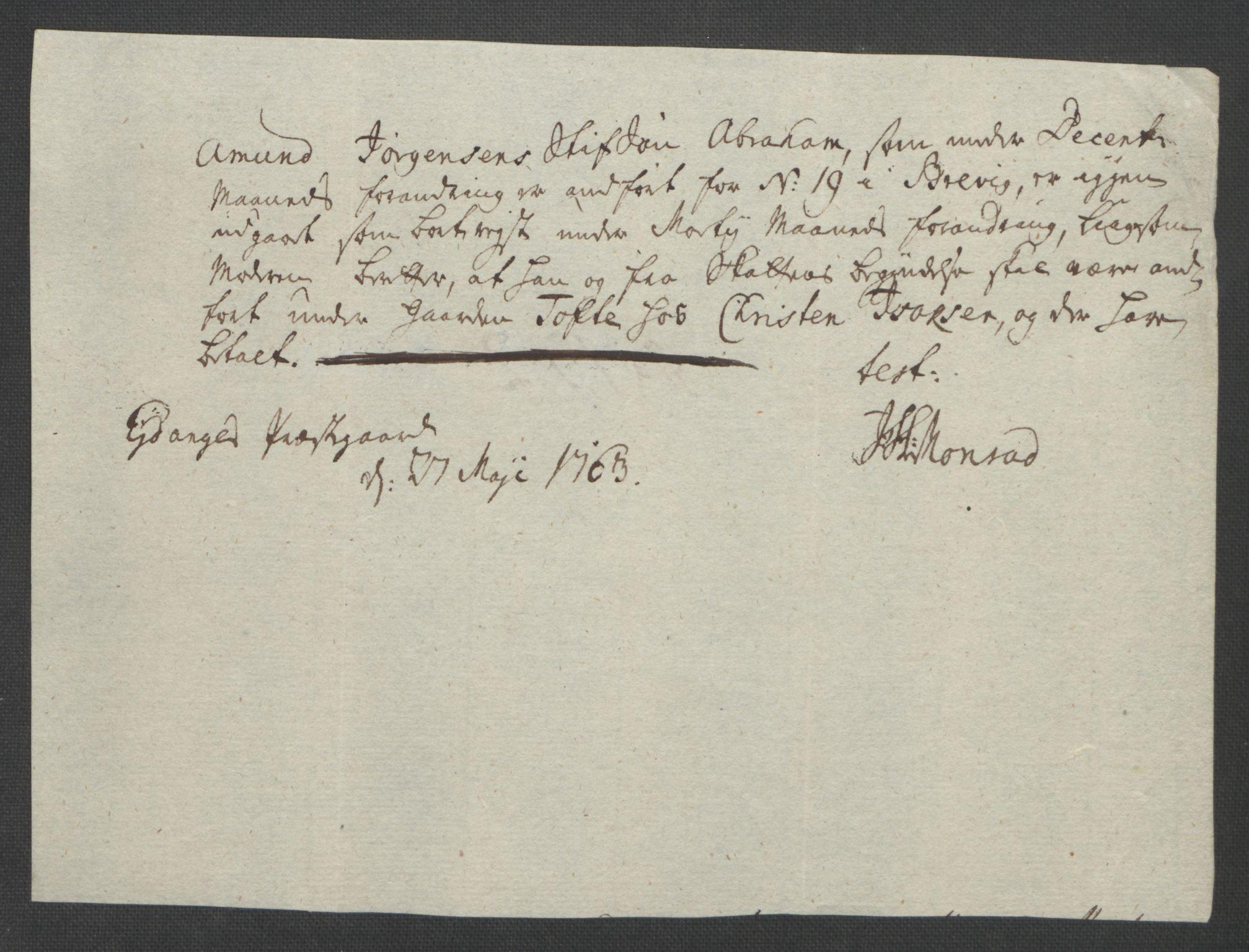 RA, Rentekammeret inntil 1814, Reviderte regnskaper, Fogderegnskap, R37/L2239: Ekstraskatten Nedre Telemark og Bamble, 1762-1763, s. 769
