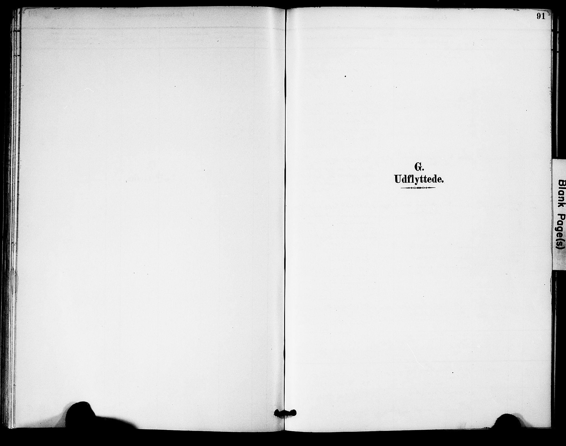 SAK, Bygland sokneprestkontor, F/Fa/Fac/L0001: Ministerialbok nr. A 1, 1885-1909, s. 91