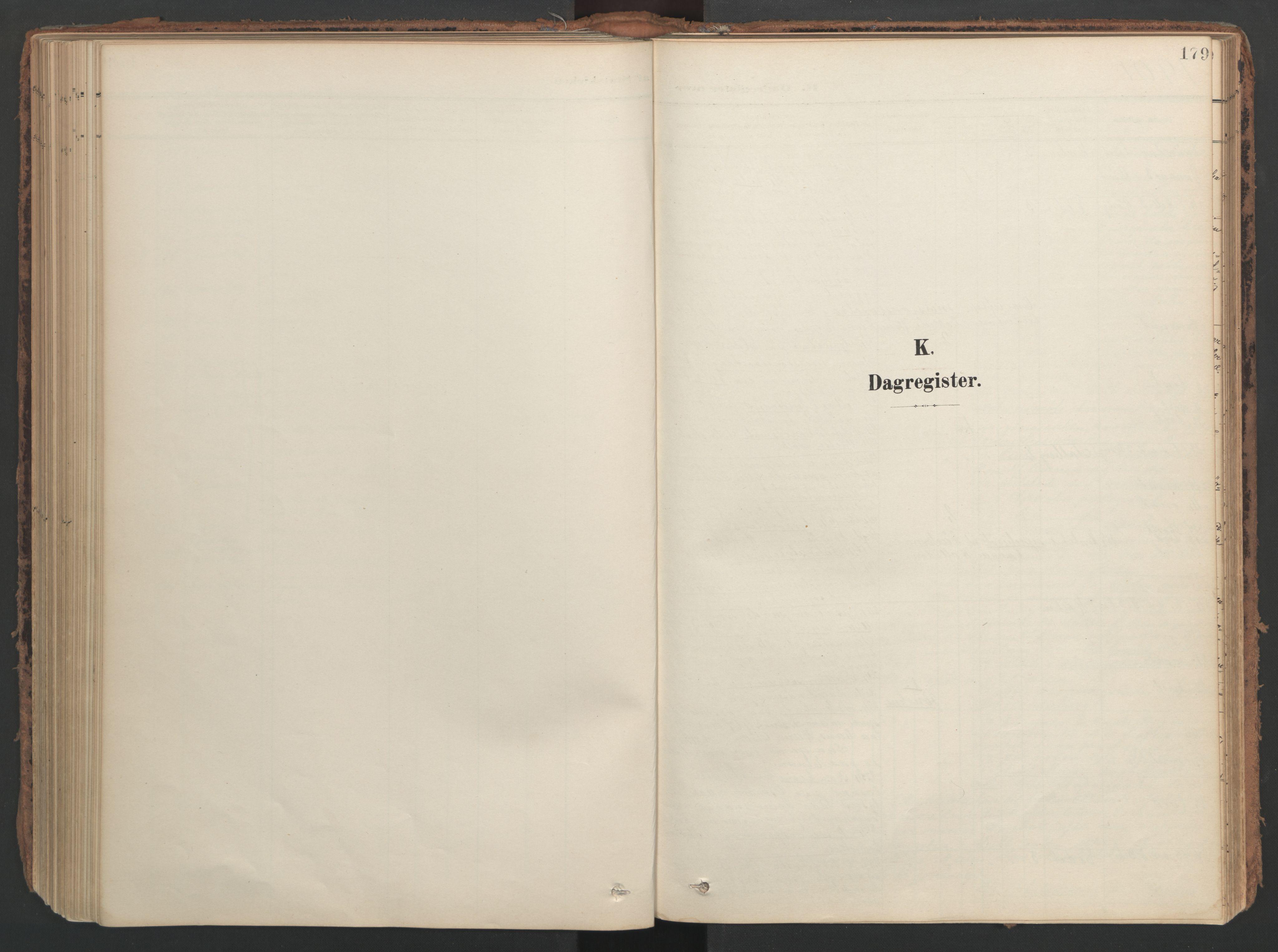 SAT, Ministerialprotokoller, klokkerbøker og fødselsregistre - Nord-Trøndelag, 741/L0397: Ministerialbok nr. 741A11, 1901-1911, s. 179
