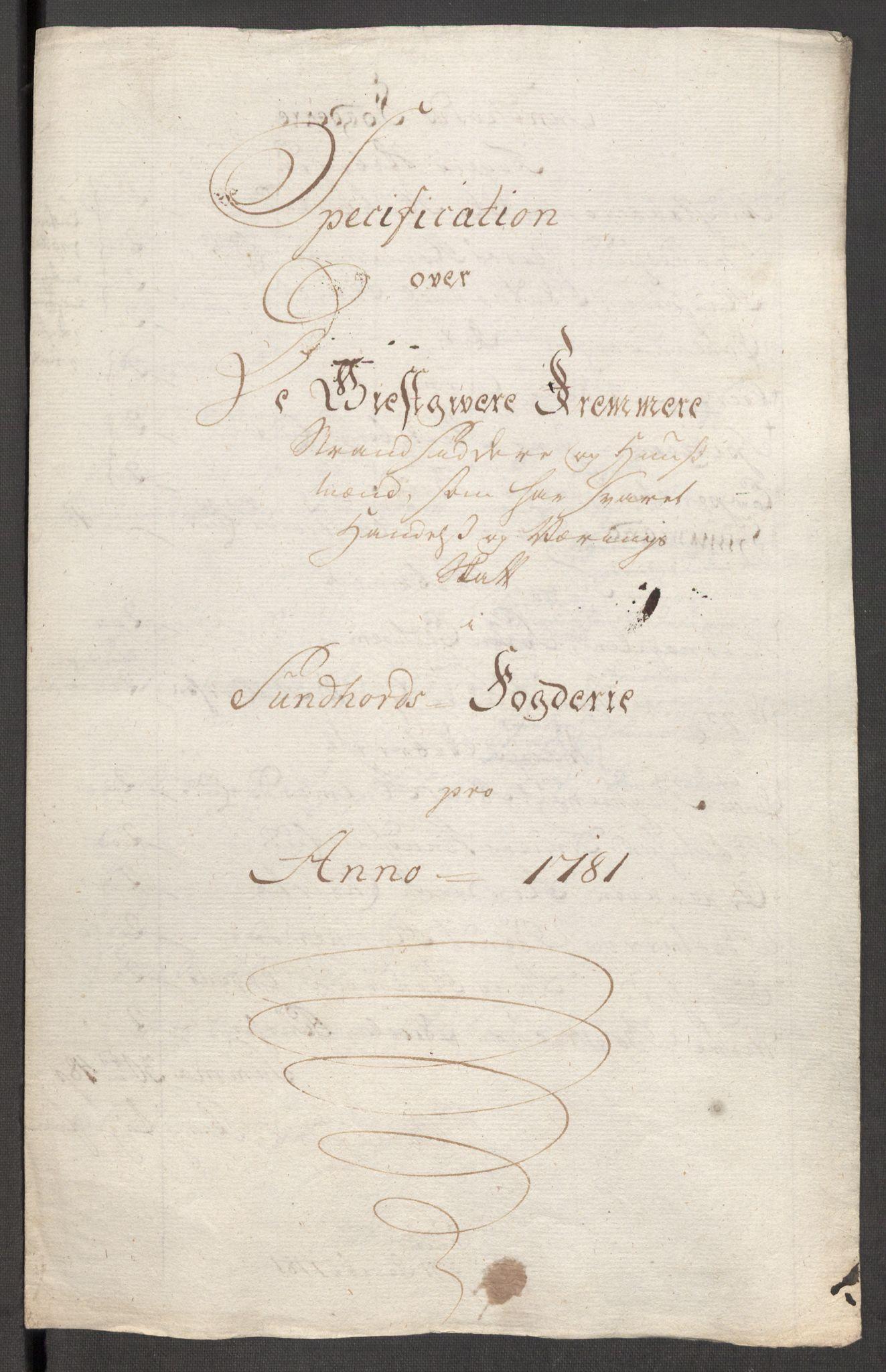 RA, Rentekammeret inntil 1814, Reviderte regnskaper, Fogderegnskap, R48/L3097: Fogderegnskap Sunnhordland og Hardanger, 1781, s. 74