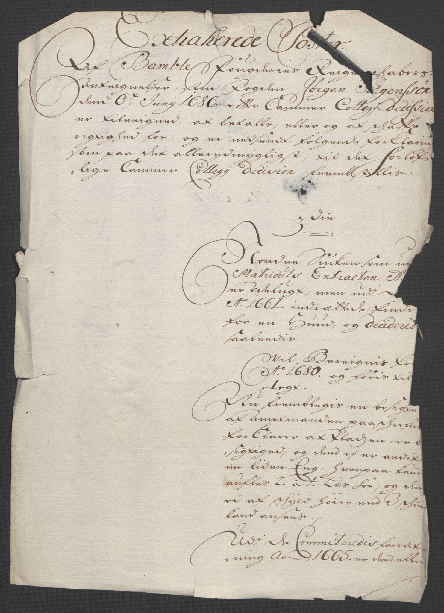 RA, Rentekammeret inntil 1814, Reviderte regnskaper, Fogderegnskap, R36/L2092: Fogderegnskap Øvre og Nedre Telemark og Bamble, 1694, s. 272