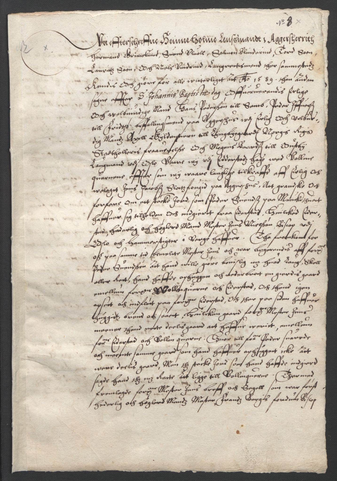 SAO, Oslo stiftsdireksjon, G/Gb/L0001: Bispestolens dokumenter, 1584-1612, s. 8